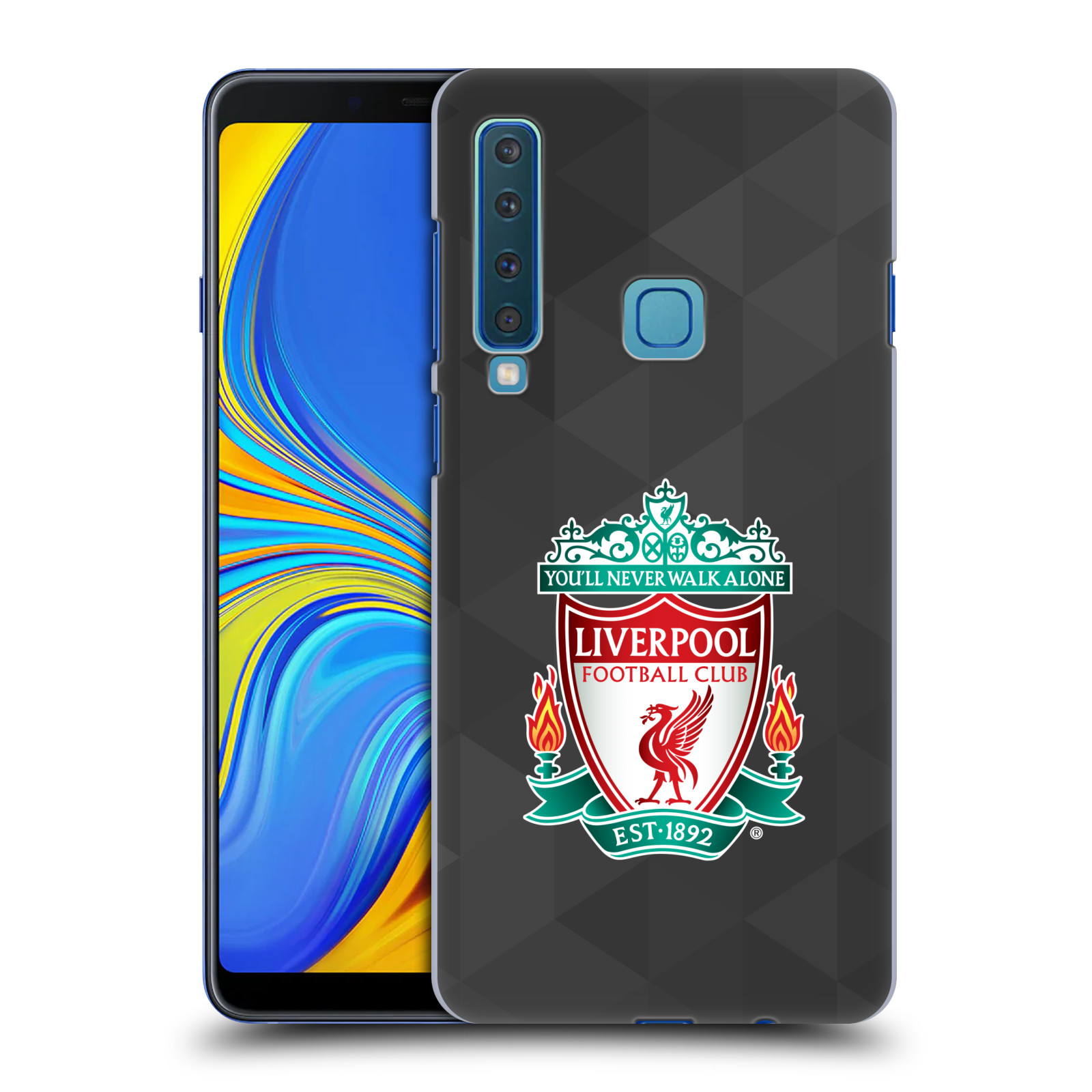 Plastové pouzdro na mobil Samsung Galaxy A9 (2018) - Head Case - ZNAK LIVERPOOL FC OFFICIAL GEOMETRIC BLACK
