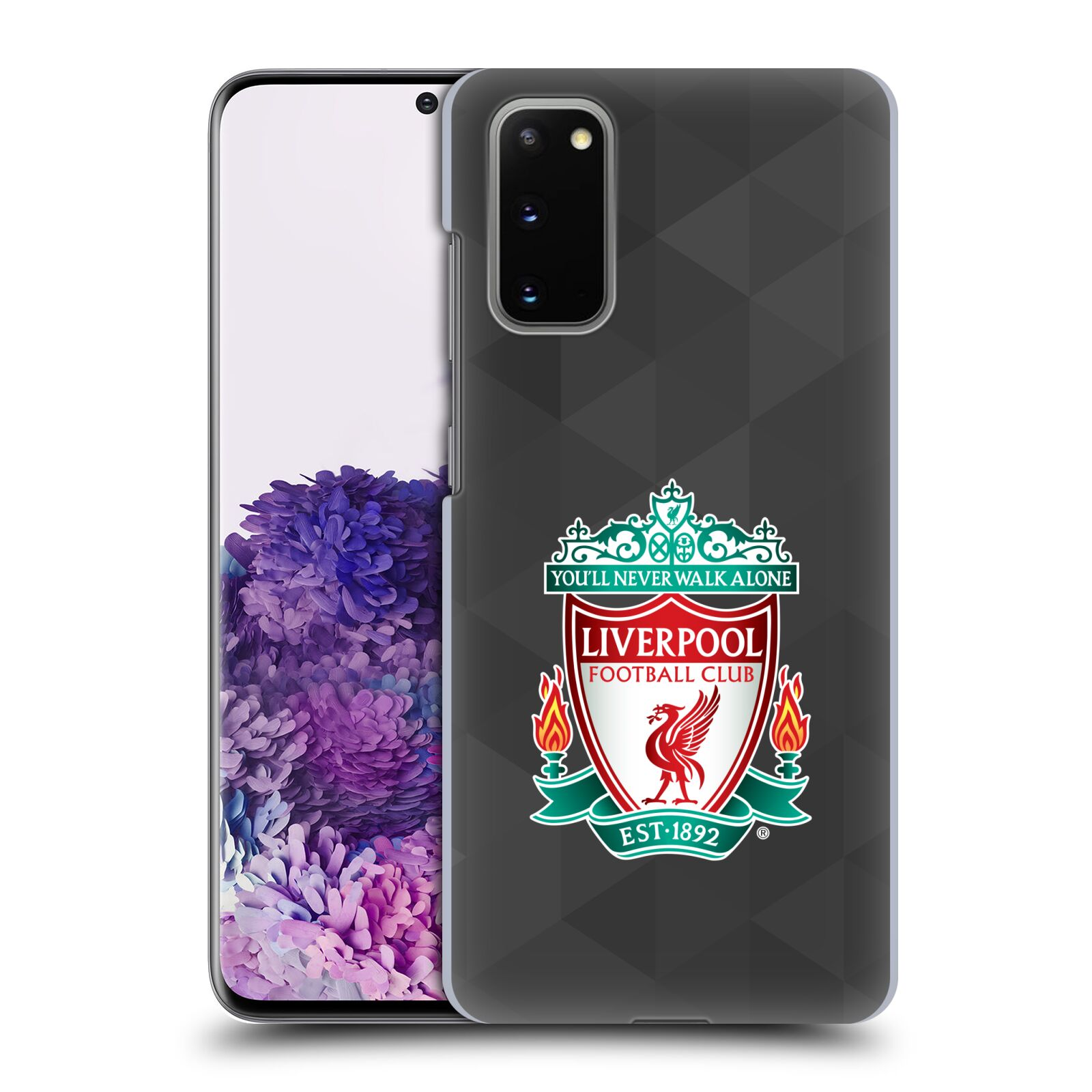 Plastové pouzdro na mobil Samsung Galaxy S20 - Head Case - ZNAK LIVERPOOL FC OFFICIAL GEOMETRIC BLACK