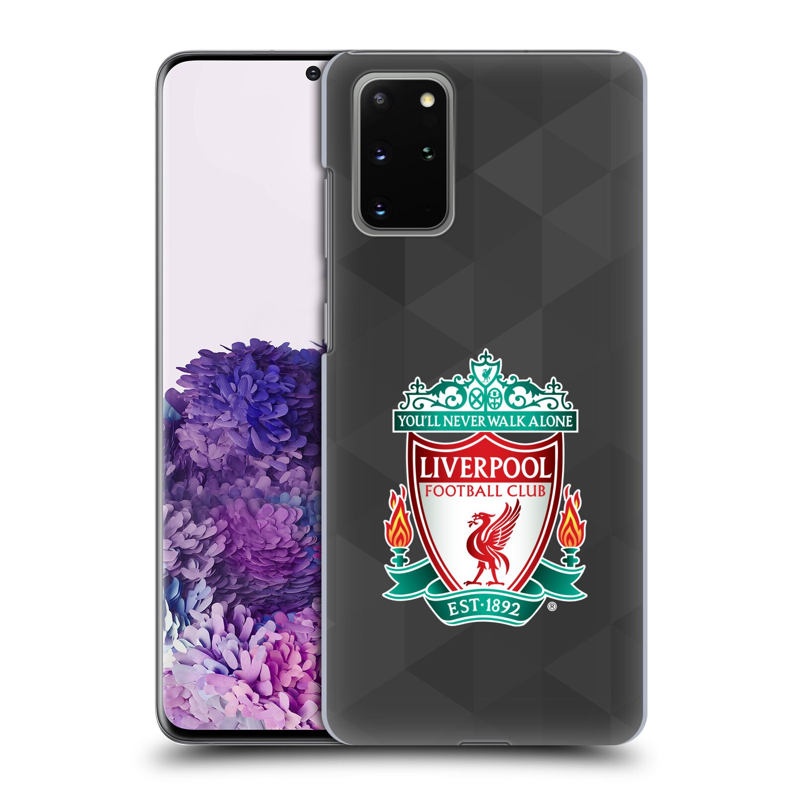 Plastové pouzdro na mobil Samsung Galaxy S20 Plus - Head Case - ZNAK LIVERPOOL FC OFFICIAL GEOMETRIC BLACK