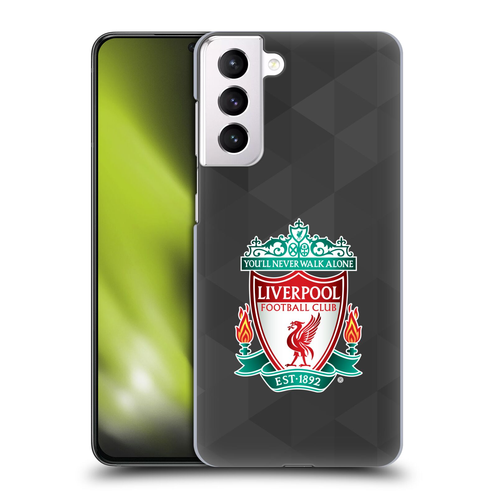 Plastové pouzdro na mobil Samsung Galaxy S21 Plus 5G - Head Case - ZNAK LIVERPOOL FC OFFICIAL GEOMETRIC BLACK