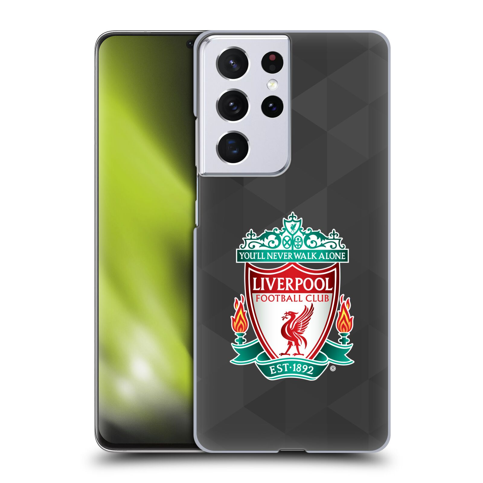 Plastové pouzdro na mobil Samsung Galaxy S21 Ultra 5G - Head Case - ZNAK LIVERPOOL FC OFFICIAL GEOMETRIC BLACK