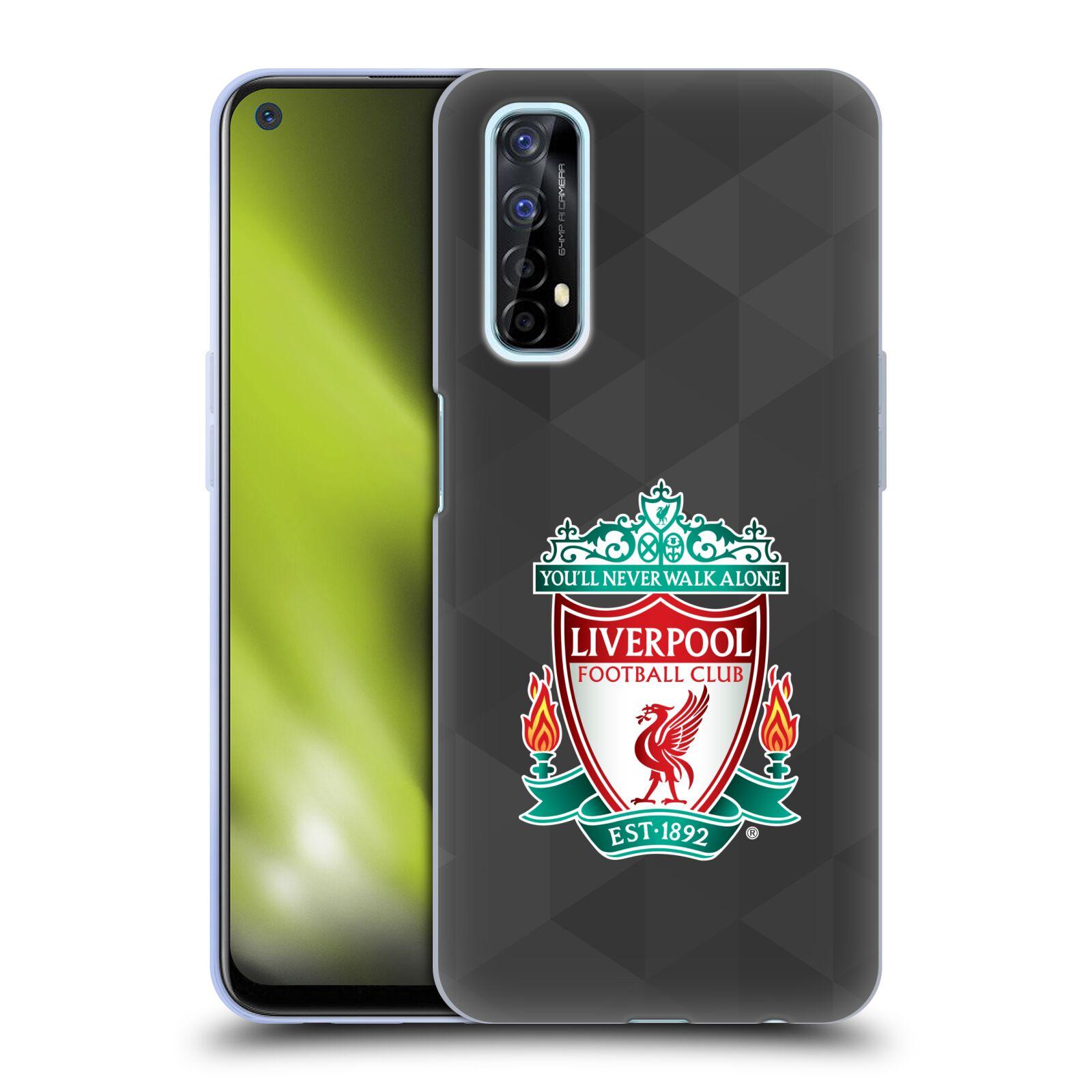 Silikonové pouzdro na mobil Realme 7 - Head Case - ZNAK LIVERPOOL FC OFFICIAL GEOMETRIC BLACK