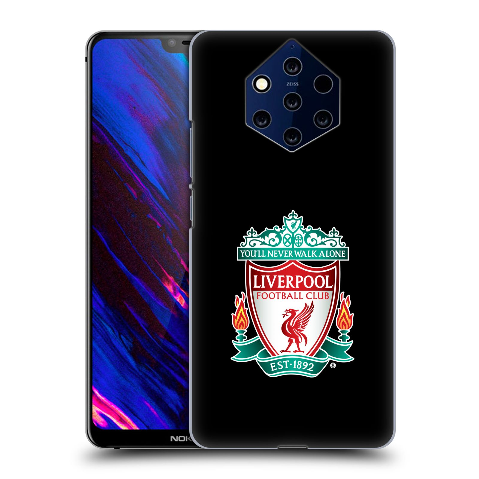 Plastové pouzdro na mobil Nokia 9 PureView - Head Case - ZNAK LIVERPOOL FC OFFICIAL BLACK