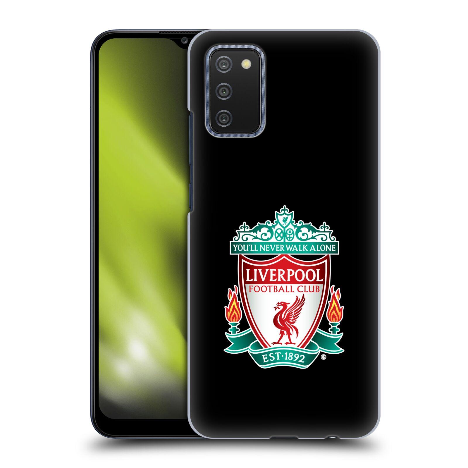Plastové pouzdro na mobil Samsung Galaxy A02s - Head Case - ZNAK LIVERPOOL FC OFFICIAL BLACK