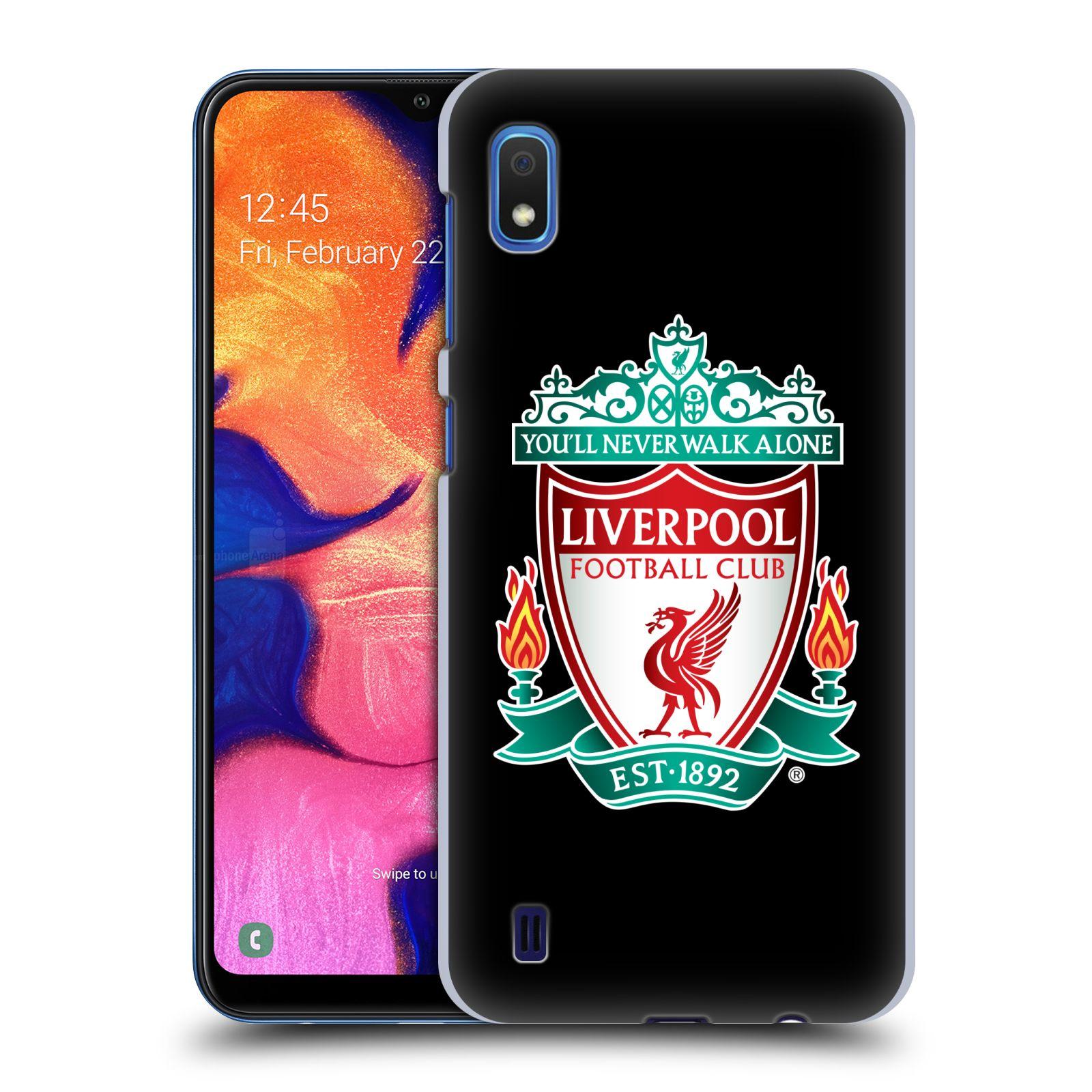 Plastové pouzdro na mobil Samsung Galaxy A10 - Head Case - ZNAK LIVERPOOL FC OFFICIAL BLACK