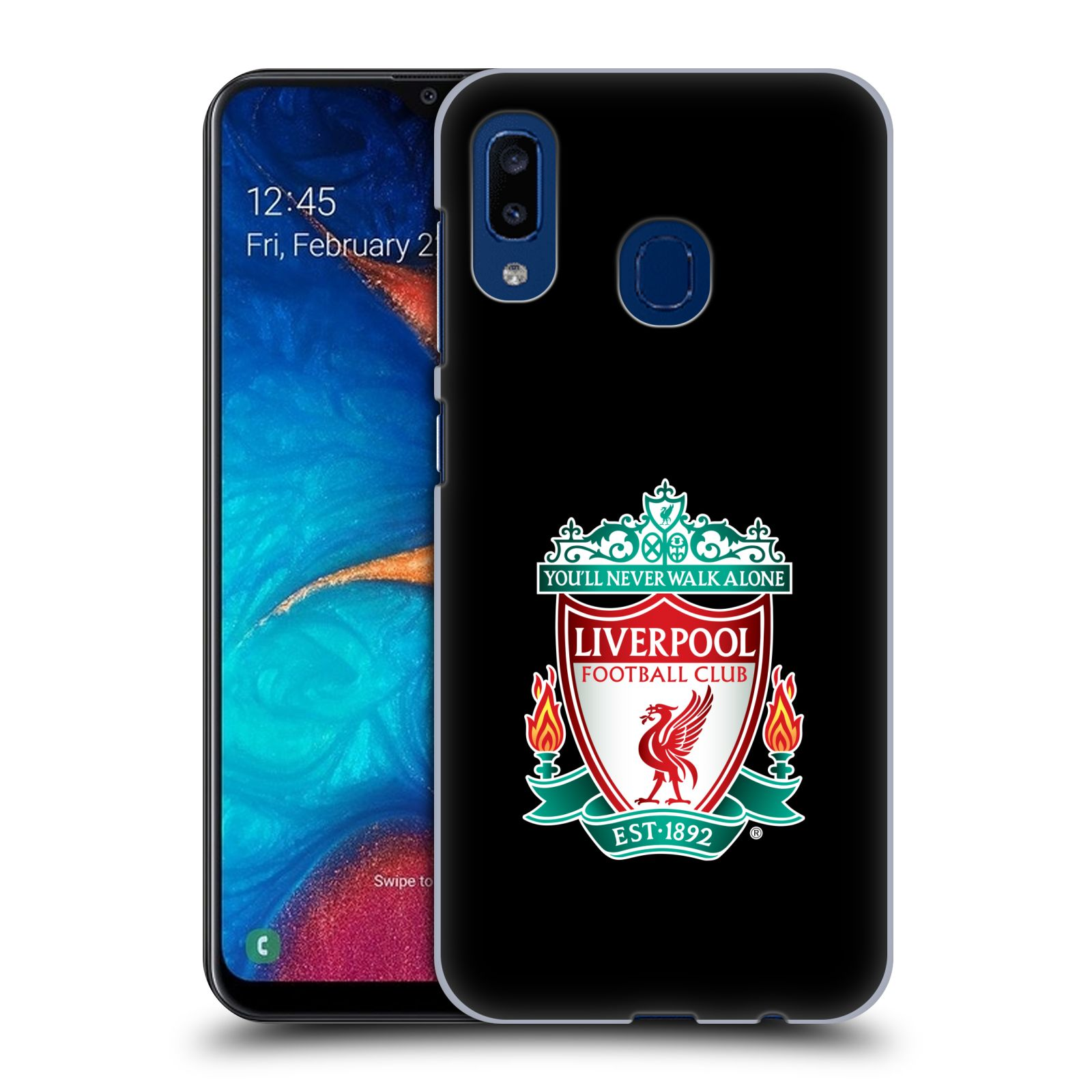 Plastové pouzdro na mobil Samsung Galaxy A20 - Head Case - ZNAK LIVERPOOL FC OFFICIAL BLACK