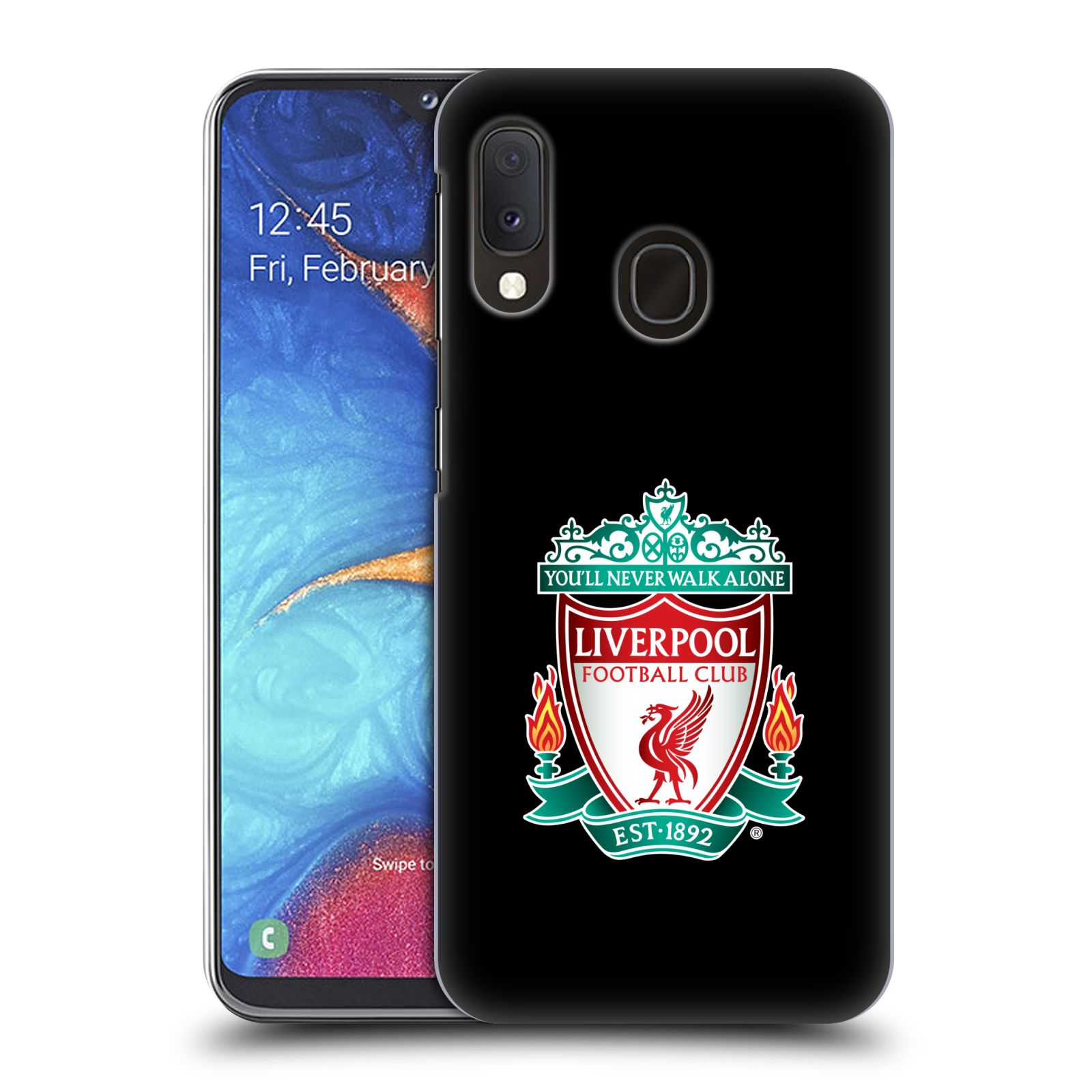 Plastové pouzdro na mobil Samsung Galaxy A20e - Head Case - ZNAK LIVERPOOL FC OFFICIAL BLACK