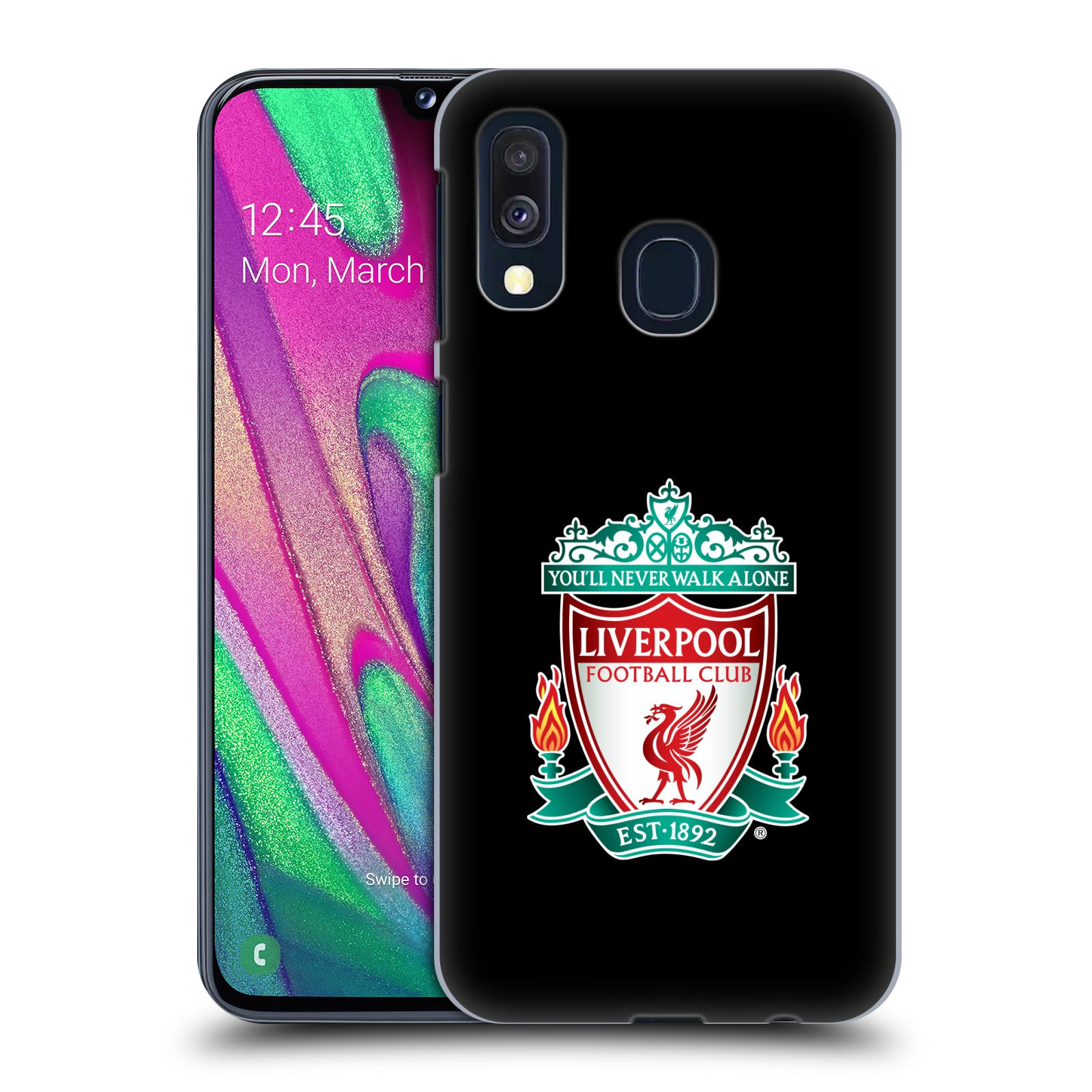 Plastové pouzdro na mobil Samsung Galaxy A40 - Head Case - ZNAK LIVERPOOL FC OFFICIAL BLACK
