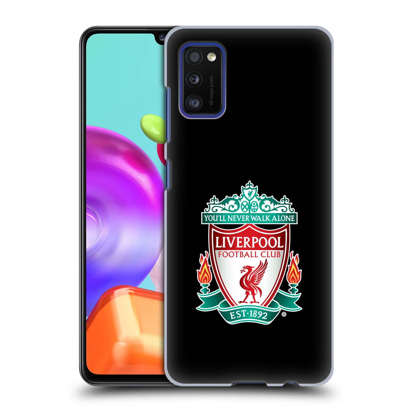 Plastové pouzdro na mobil Samsung Galaxy A41 - Head Case - ZNAK LIVERPOOL FC OFFICIAL BLACK