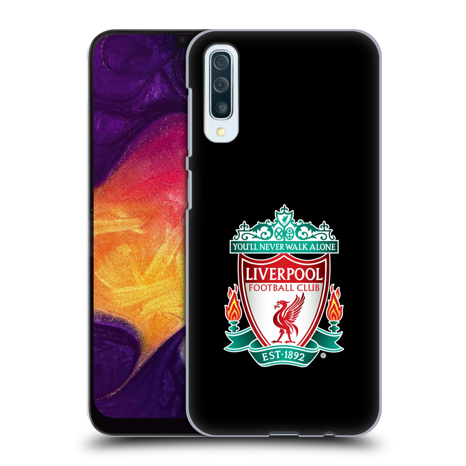 Plastové pouzdro na mobil Samsung Galaxy A50 - Head Case - ZNAK LIVERPOOL FC OFFICIAL BLACK