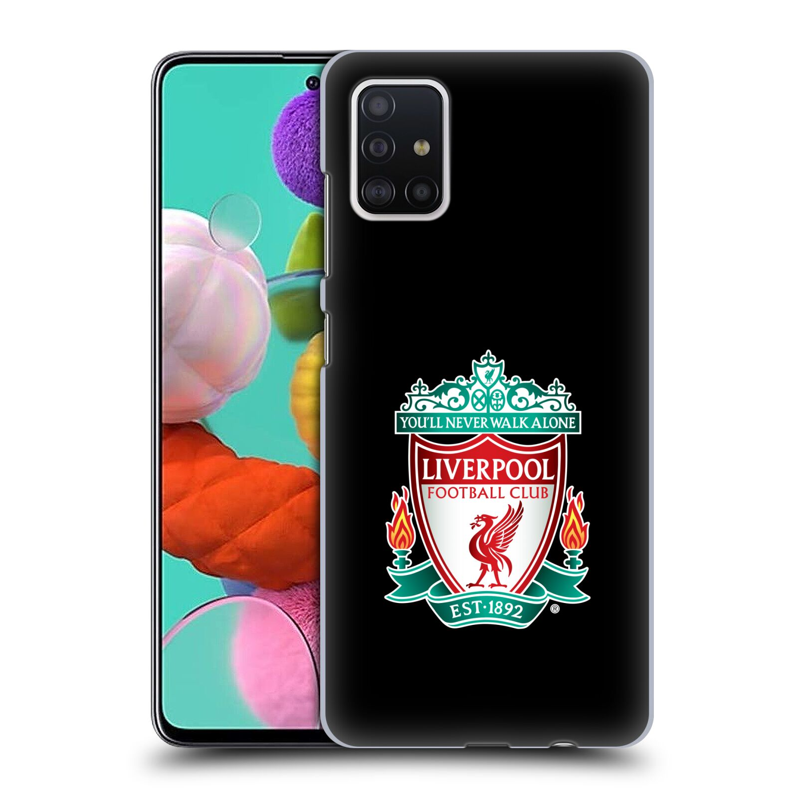 Plastové pouzdro na mobil Samsung Galaxy A51 - Head Case - ZNAK LIVERPOOL FC OFFICIAL BLACK