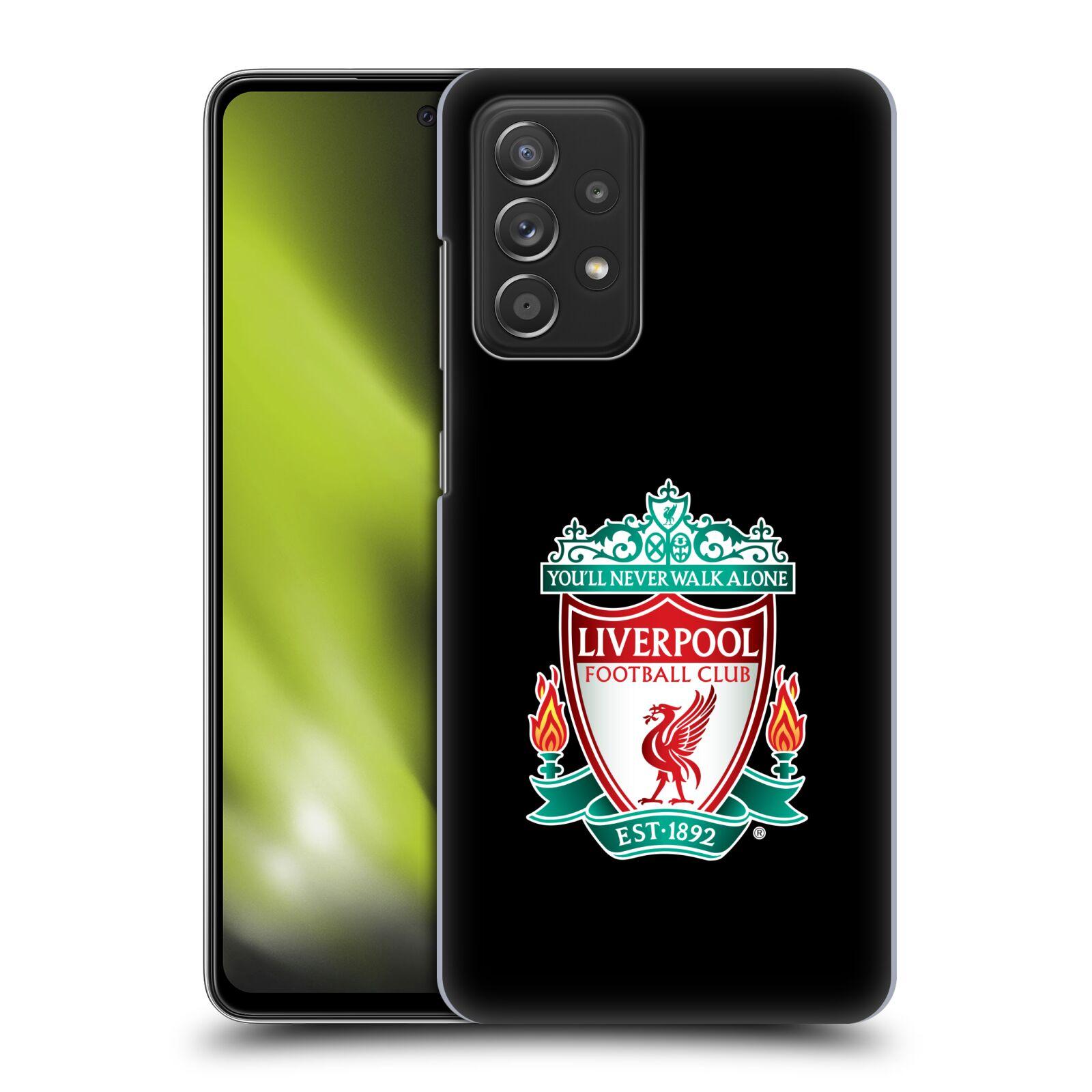 Plastové pouzdro na mobil Samsung Galaxy A52 / A52 5G / A52s 5G - Head Case - ZNAK LIVERPOOL FC OFFICIAL BLACK