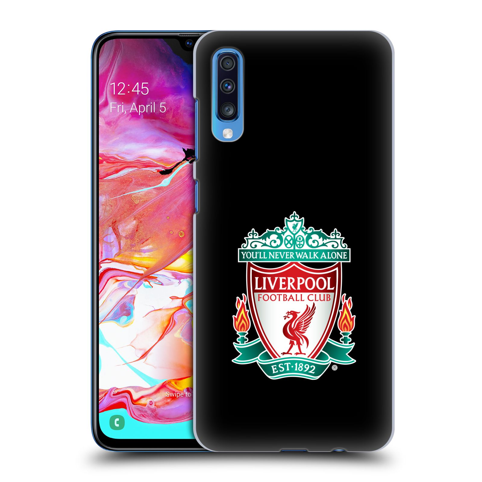 Plastové pouzdro na mobil Samsung Galaxy A70 - Head Case - ZNAK LIVERPOOL FC OFFICIAL BLACK