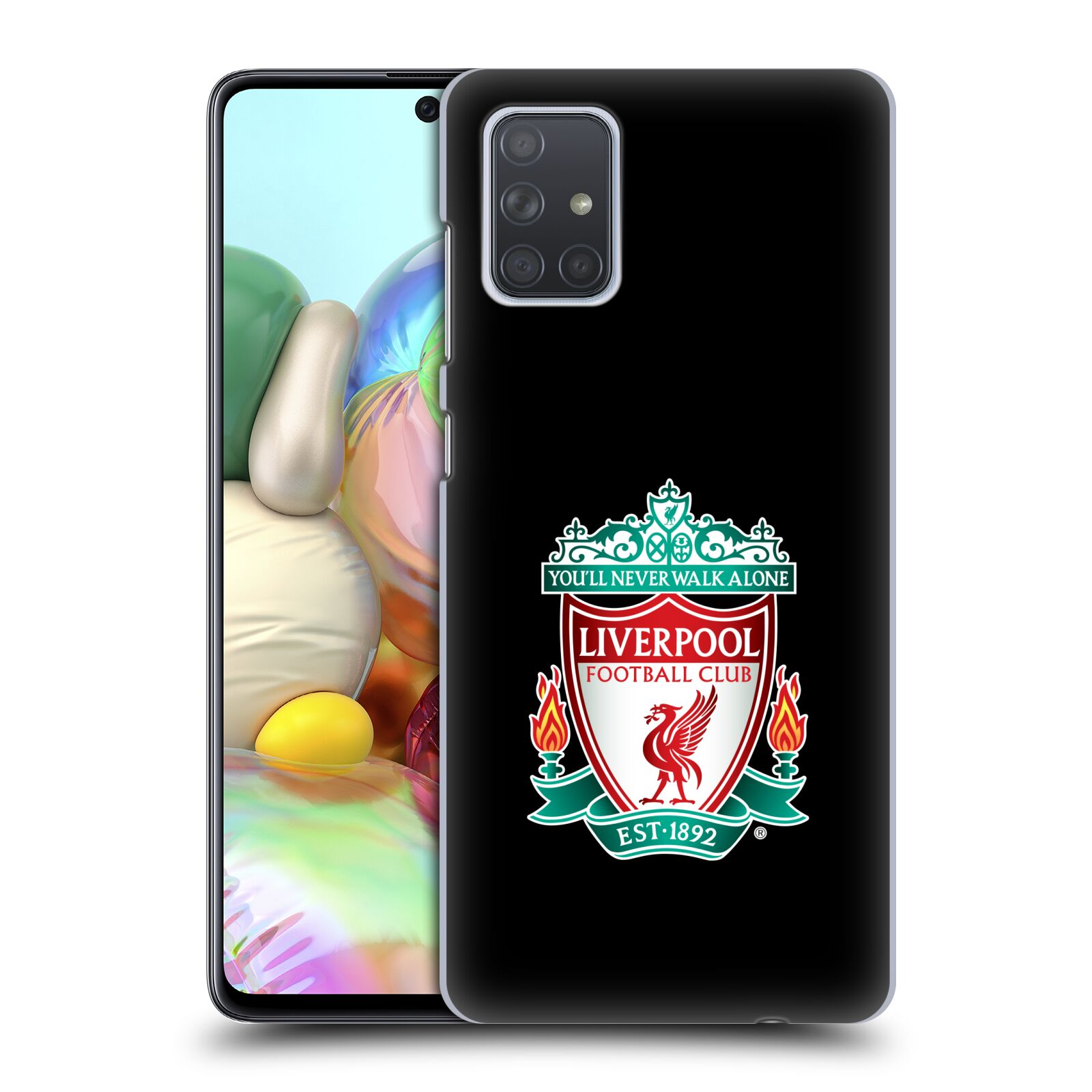 Plastové pouzdro na mobil Samsung Galaxy A71 - Head Case - ZNAK LIVERPOOL FC OFFICIAL BLACK