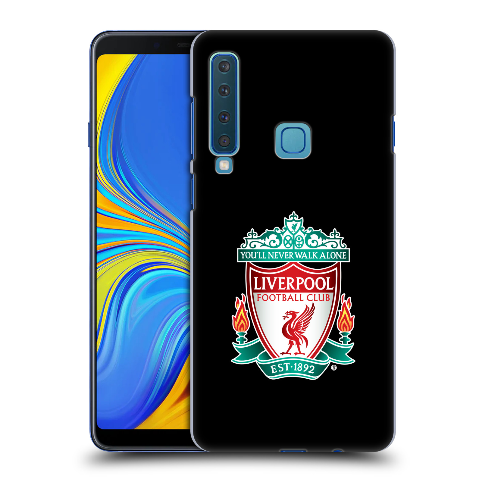 Plastové pouzdro na mobil Samsung Galaxy A9 (2018) - Head Case - ZNAK LIVERPOOL FC OFFICIAL BLACK