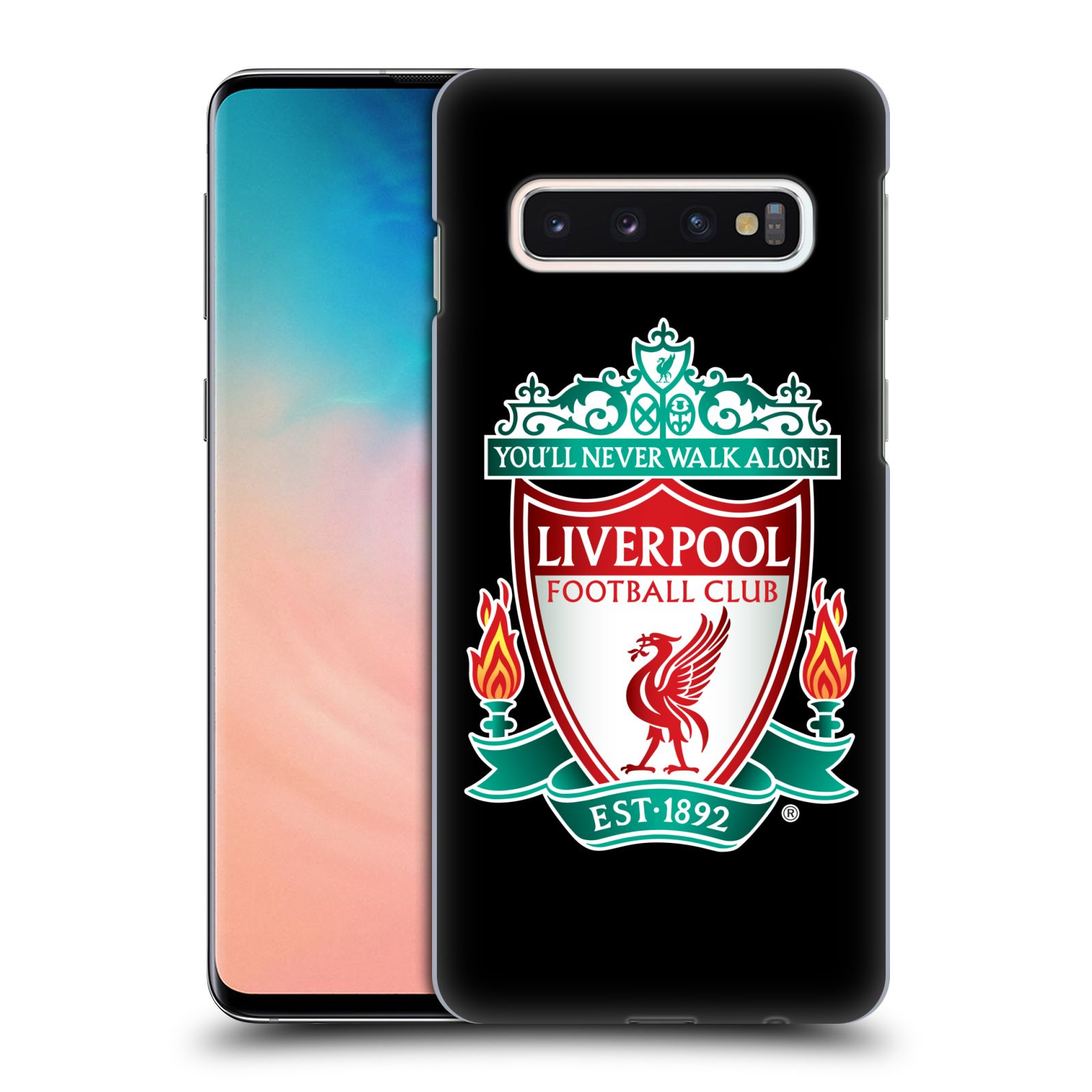 Plastové pouzdro na mobil Samsung Galaxy S10 - Head Case - ZNAK LIVERPOOL FC OFFICIAL BLACK