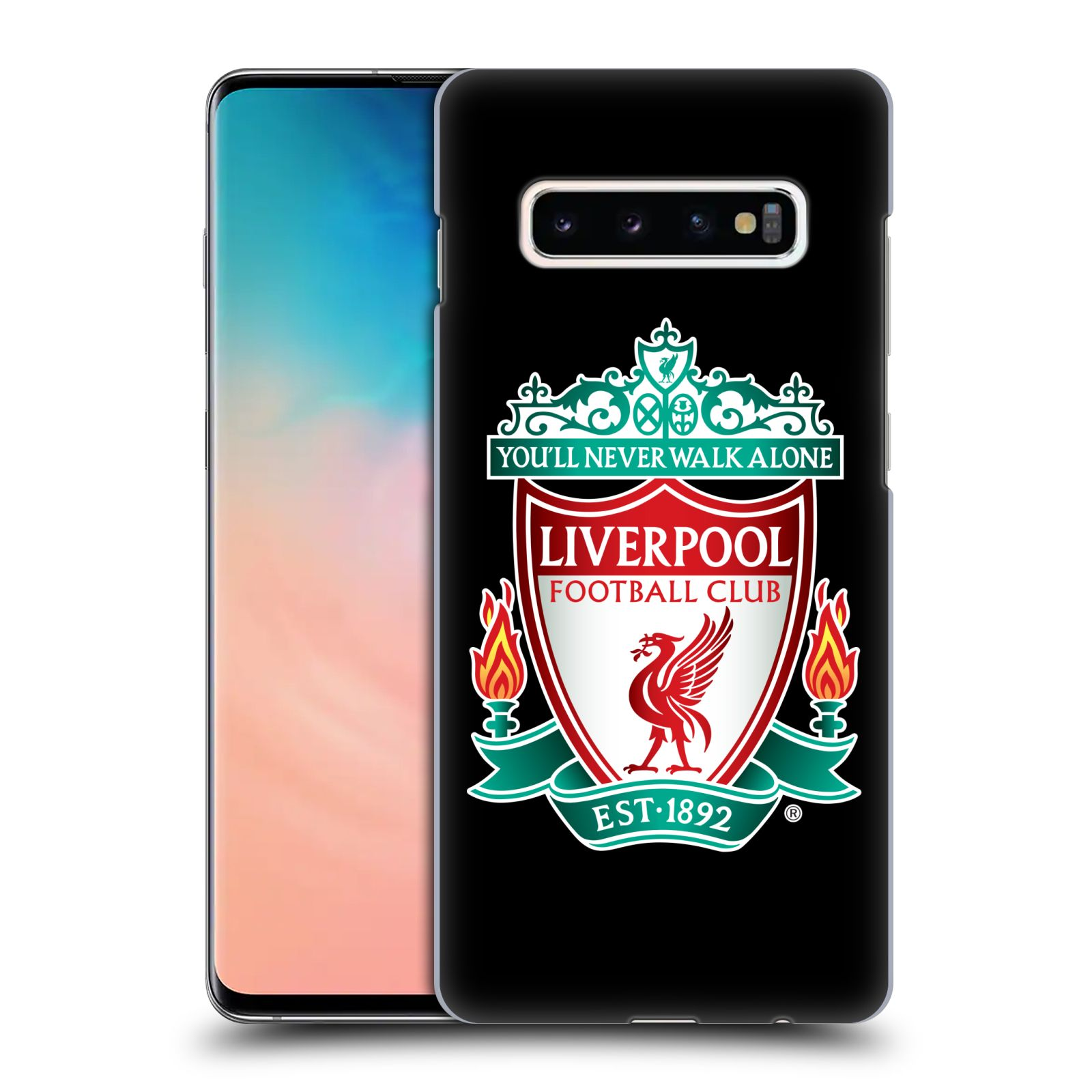 Plastové pouzdro na mobil Samsung Galaxy S10 Plus - Head Case - ZNAK LIVERPOOL FC OFFICIAL BLACK