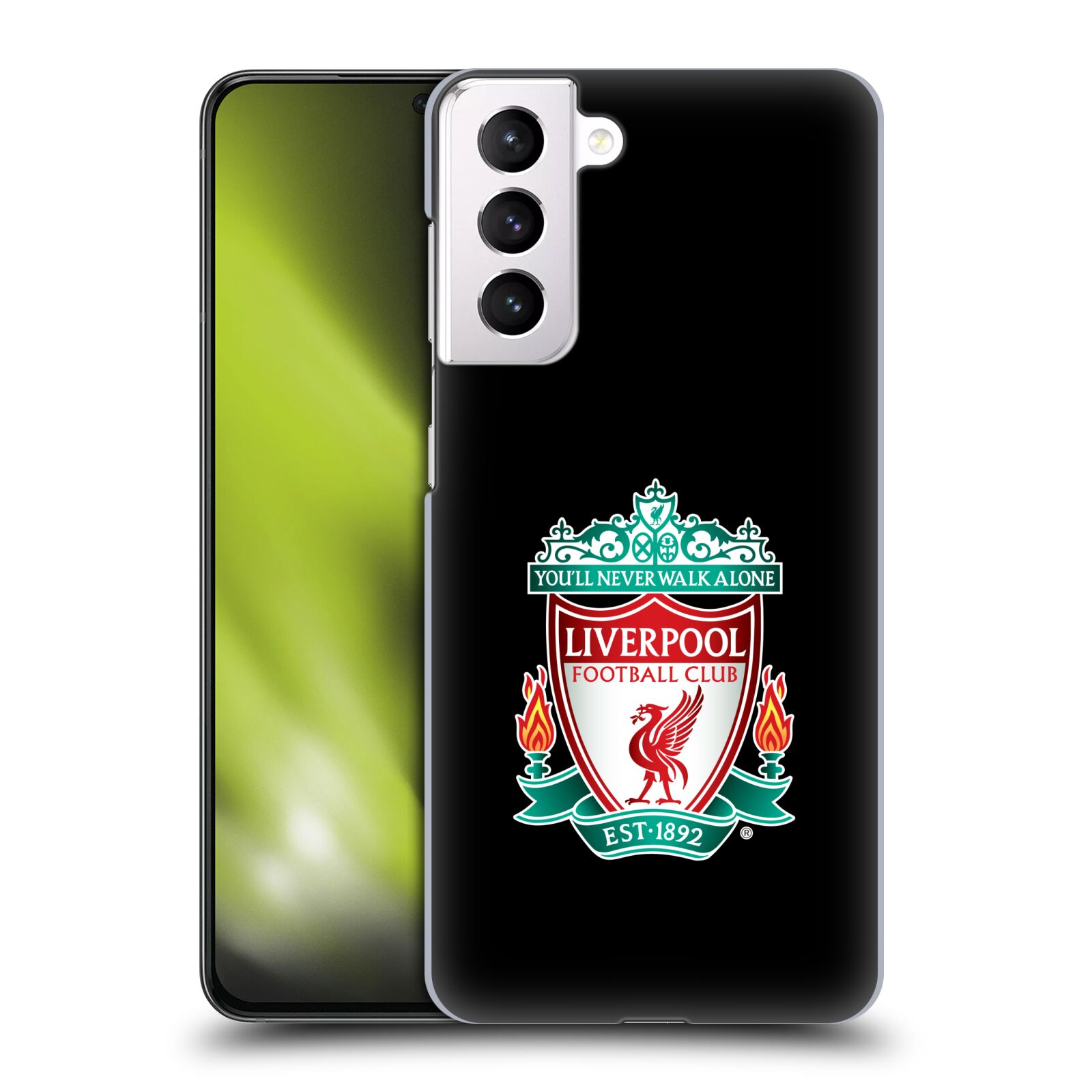 Plastové pouzdro na mobil Samsung Galaxy S21 Plus 5G - Head Case - ZNAK LIVERPOOL FC OFFICIAL BLACK