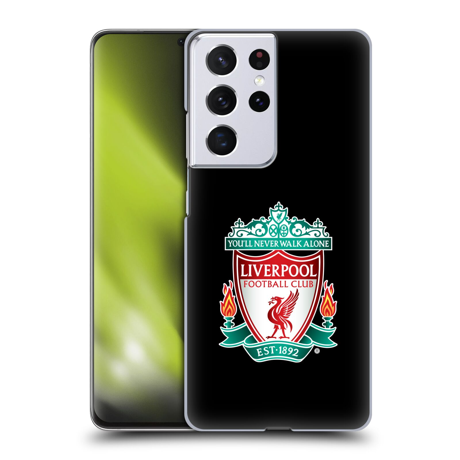 Plastové pouzdro na mobil Samsung Galaxy S21 Ultra 5G - Head Case - ZNAK LIVERPOOL FC OFFICIAL BLACK