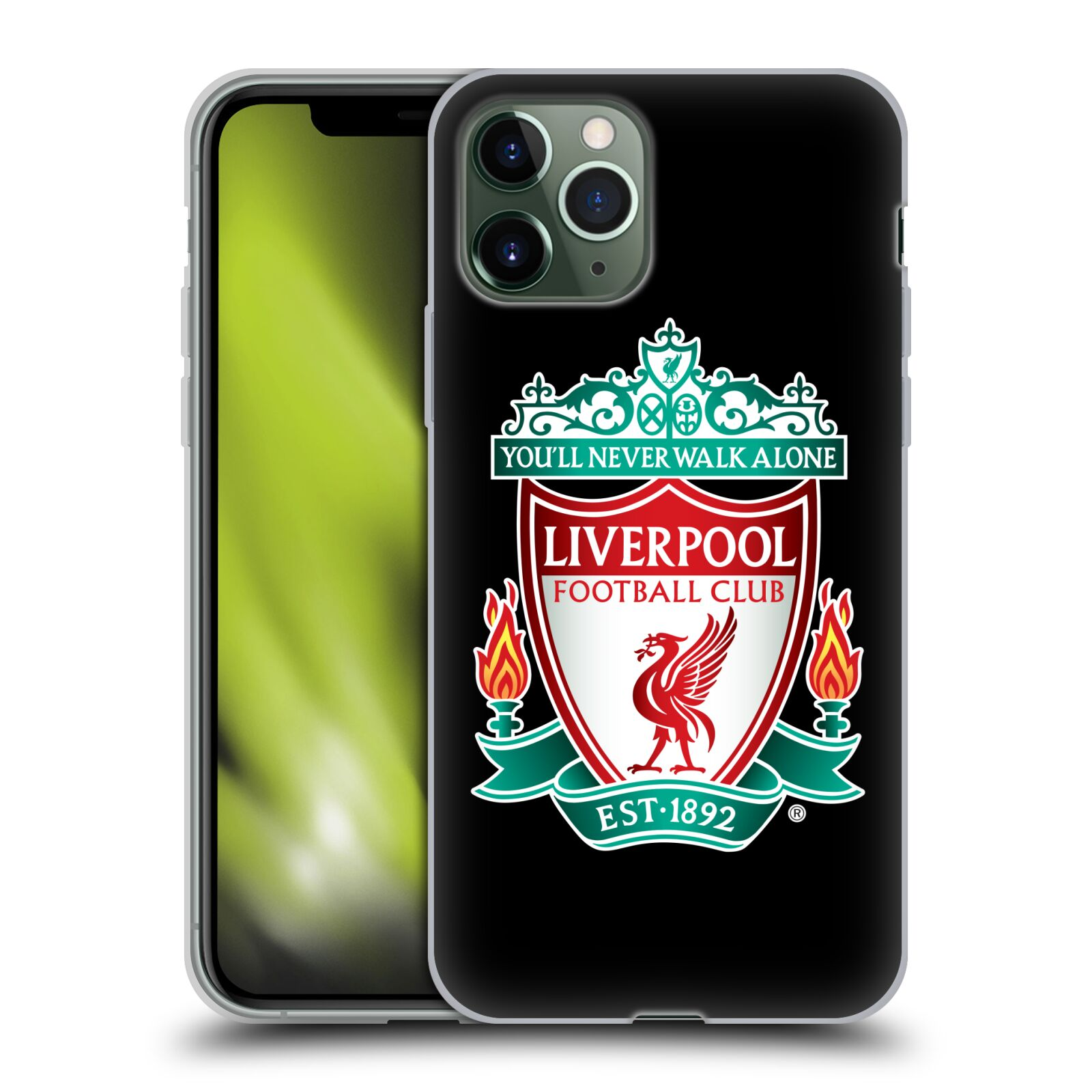 kožené krytu na iphone 8 plus | Silikonové pouzdro na mobil Apple iPhone 11 Pro - Head Case - ZNAK LIVERPOOL FC OFFICIAL BLACK