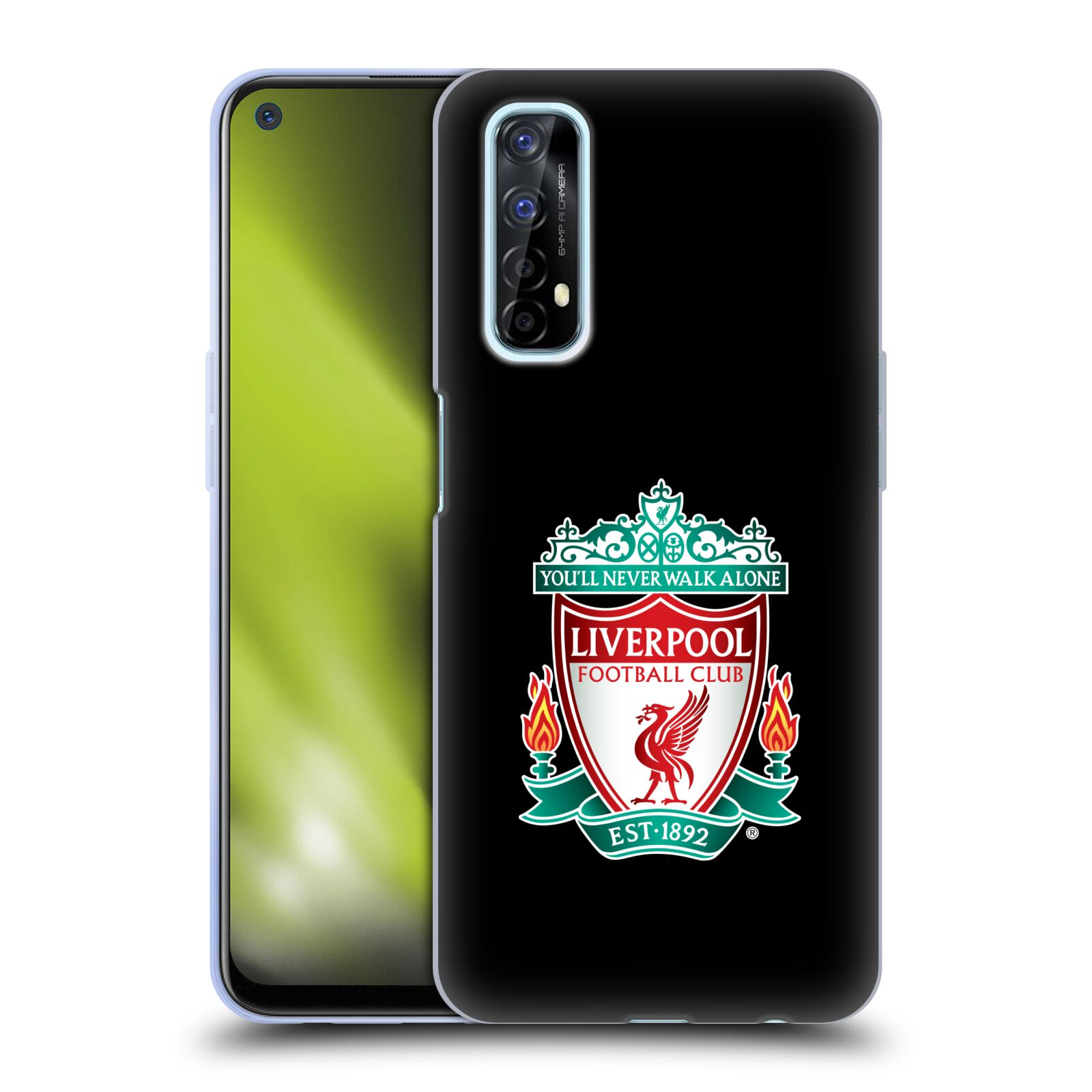 Silikonové pouzdro na mobil Realme 7 - Head Case - ZNAK LIVERPOOL FC OFFICIAL BLACK