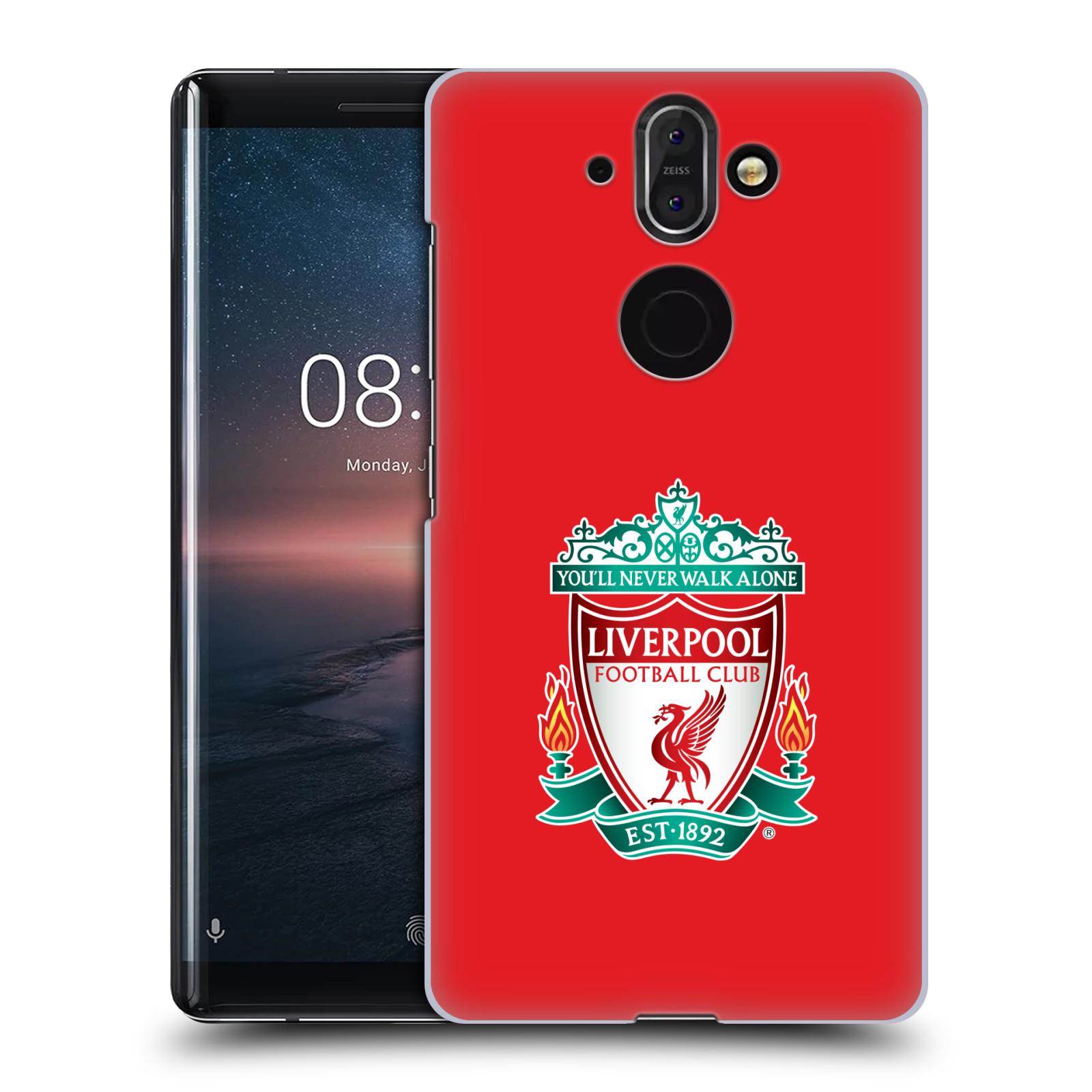 Plastové pouzdro na mobil Nokia 8 Sirocco - Head Case - ZNAK LIVERPOOL FC OFFICIAL RED