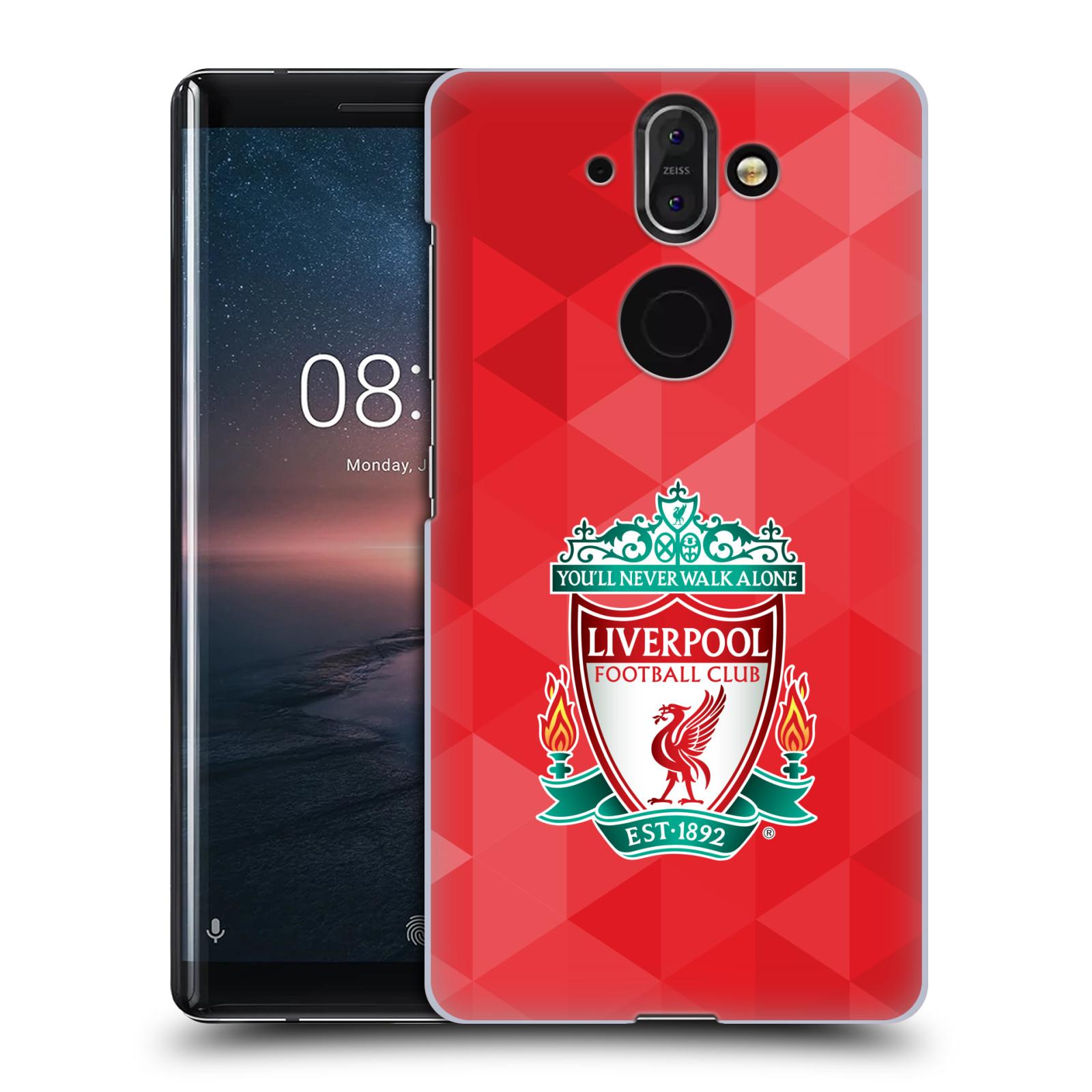 Plastové pouzdro na mobil Nokia 8 Sirocco - Head Case - ZNAK LIVERPOOL FC OFFICIAL GEOMETRIC RED