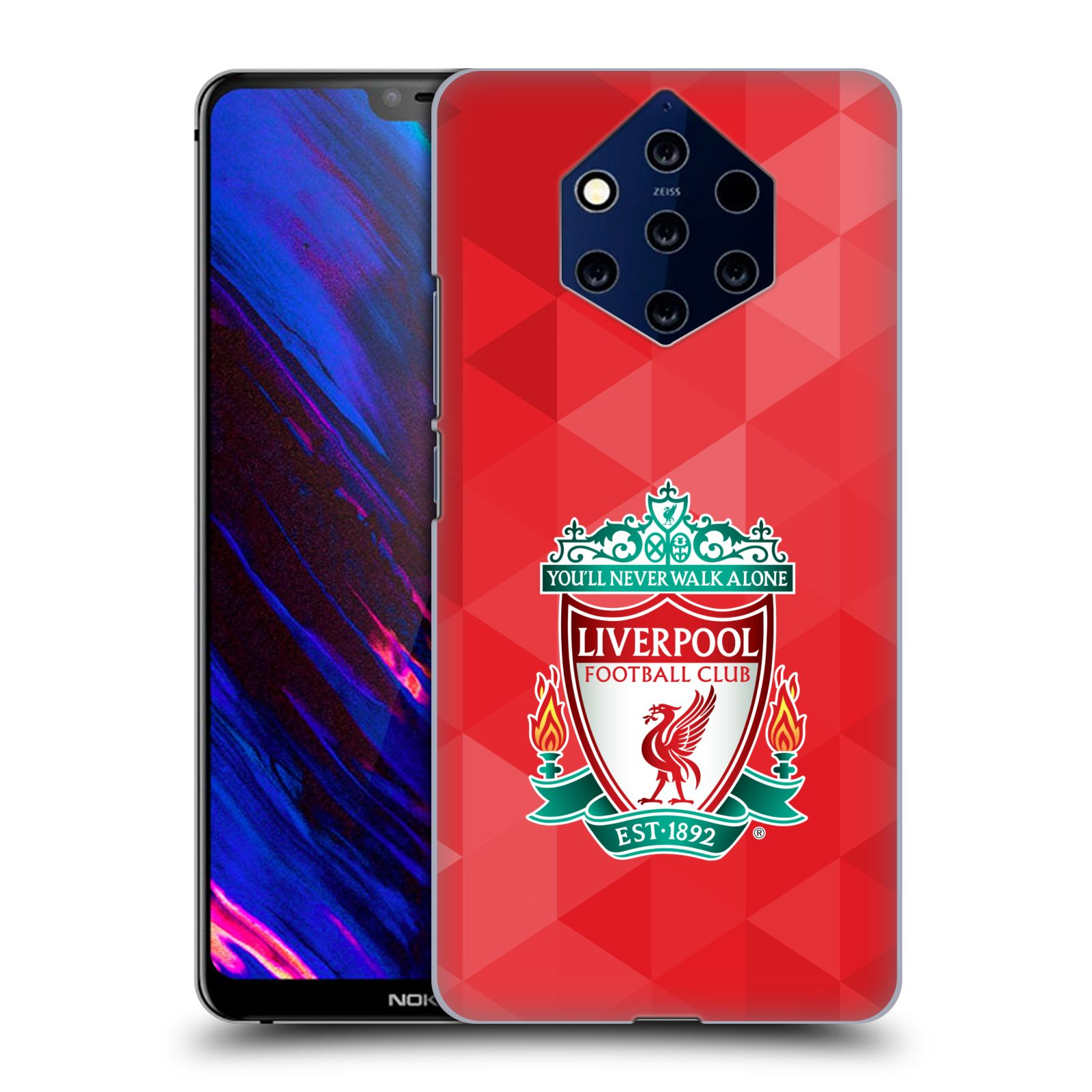 Plastové pouzdro na mobil Nokia 9 PureView - Head Case - ZNAK LIVERPOOL FC OFFICIAL GEOMETRIC RED