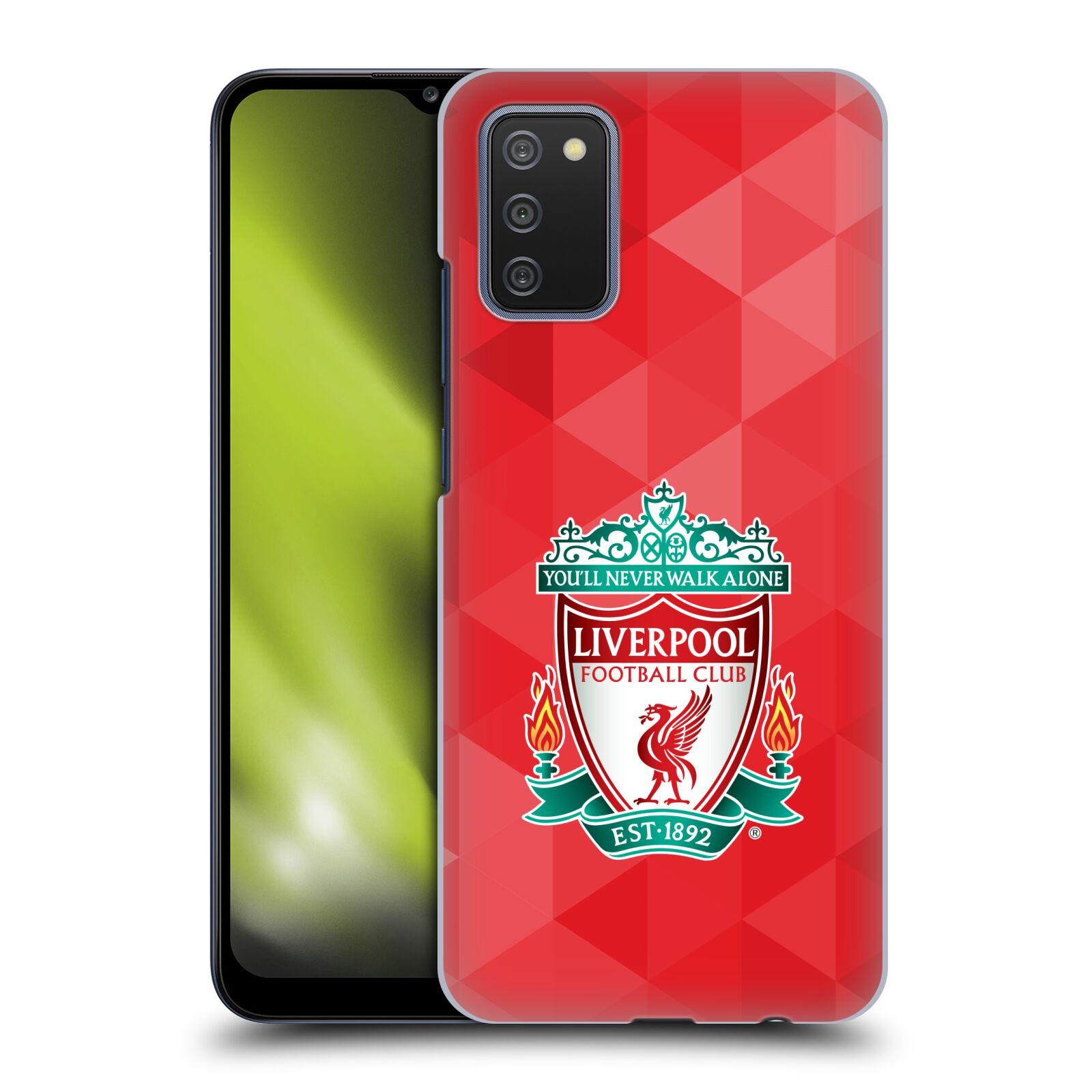 Plastové pouzdro na mobil Samsung Galaxy A02s - Head Case - ZNAK LIVERPOOL FC OFFICIAL GEOMETRIC RED