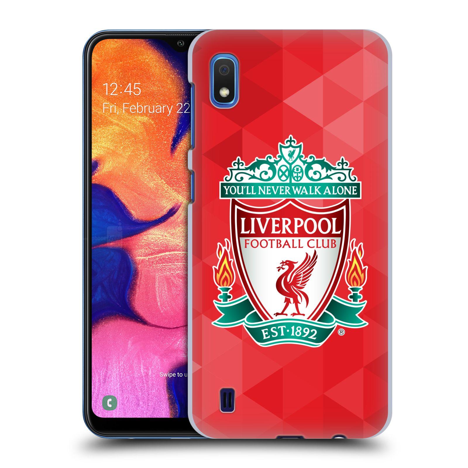 Plastové pouzdro na mobil Samsung Galaxy A10 - Head Case - ZNAK LIVERPOOL FC OFFICIAL GEOMETRIC RED