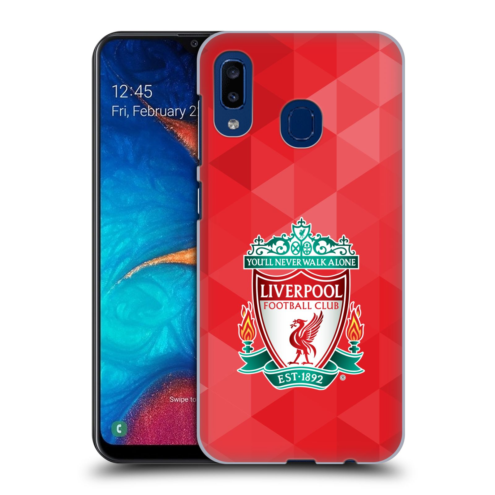 Plastové pouzdro na mobil Samsung Galaxy A20 - Head Case - ZNAK LIVERPOOL FC OFFICIAL GEOMETRIC RED
