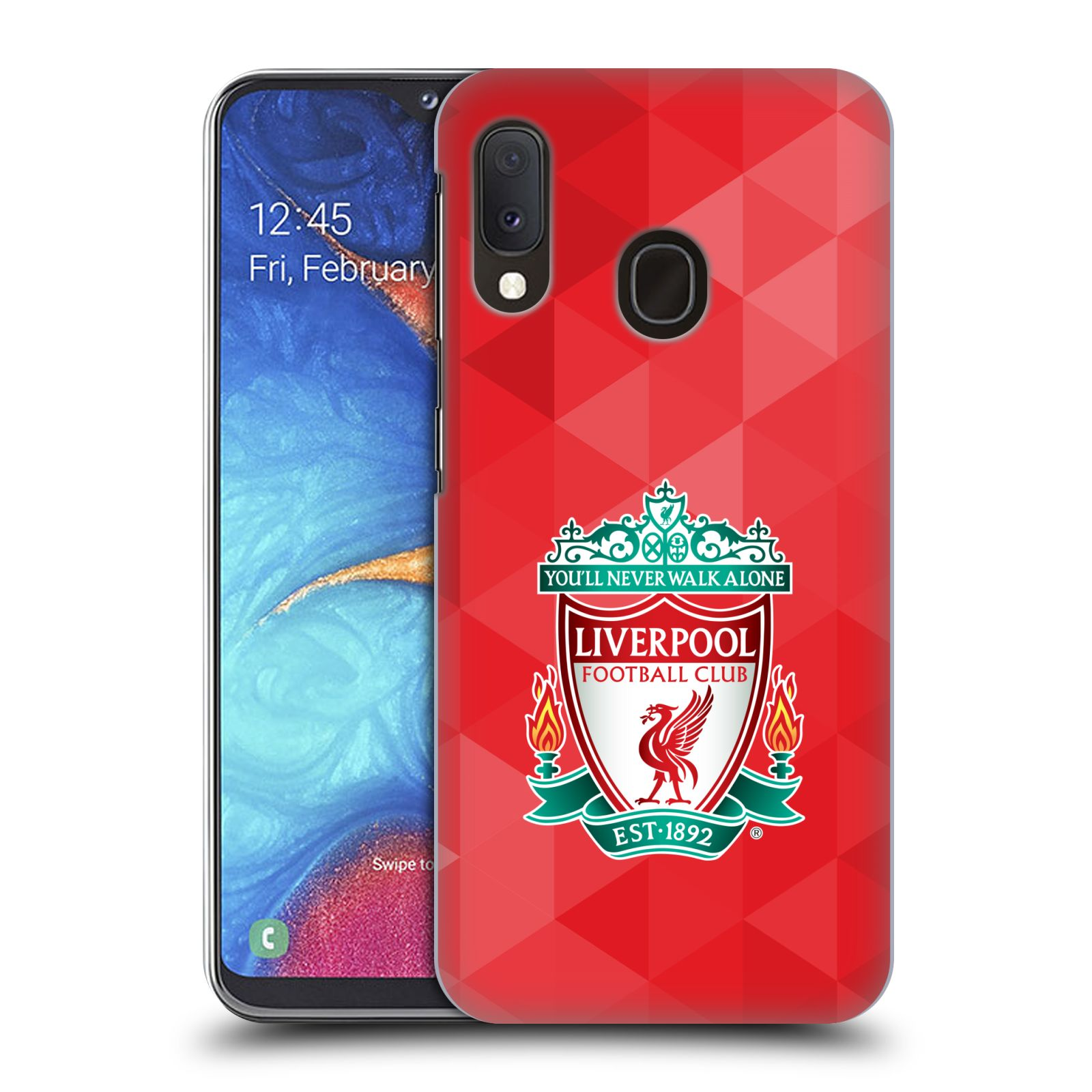 Plastové pouzdro na mobil Samsung Galaxy A20e - Head Case - ZNAK LIVERPOOL FC OFFICIAL GEOMETRIC RED