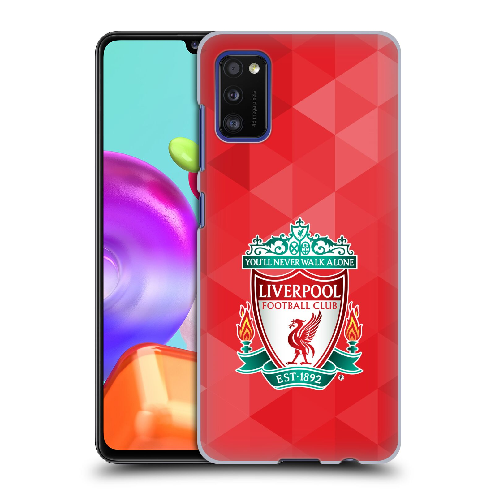 Plastové pouzdro na mobil Samsung Galaxy A41 - Head Case - ZNAK LIVERPOOL FC OFFICIAL GEOMETRIC RED
