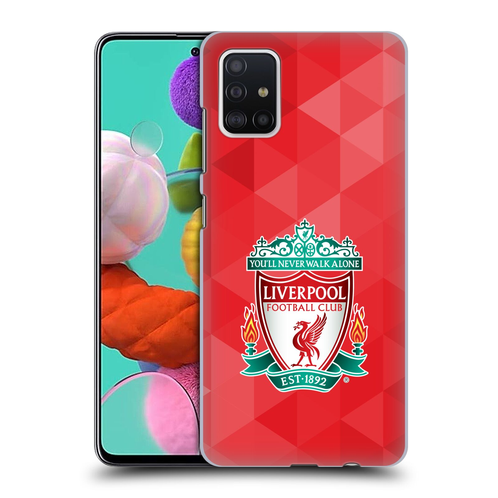 Plastové pouzdro na mobil Samsung Galaxy A51 - Head Case - ZNAK LIVERPOOL FC OFFICIAL GEOMETRIC RED