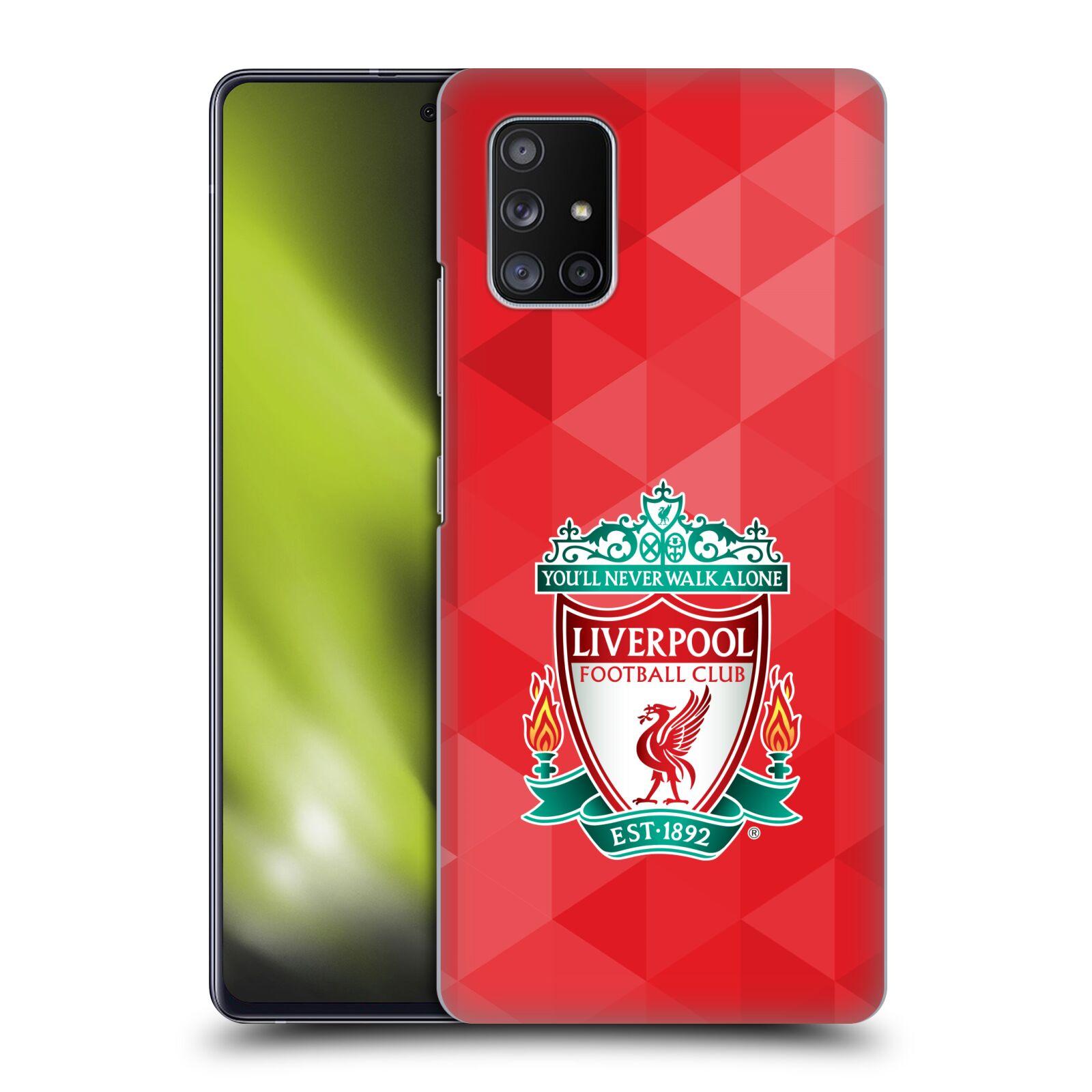 Plastové pouzdro na mobil Samsung Galaxy A51 5G - Head Case - ZNAK LIVERPOOL FC OFFICIAL GEOMETRIC RED