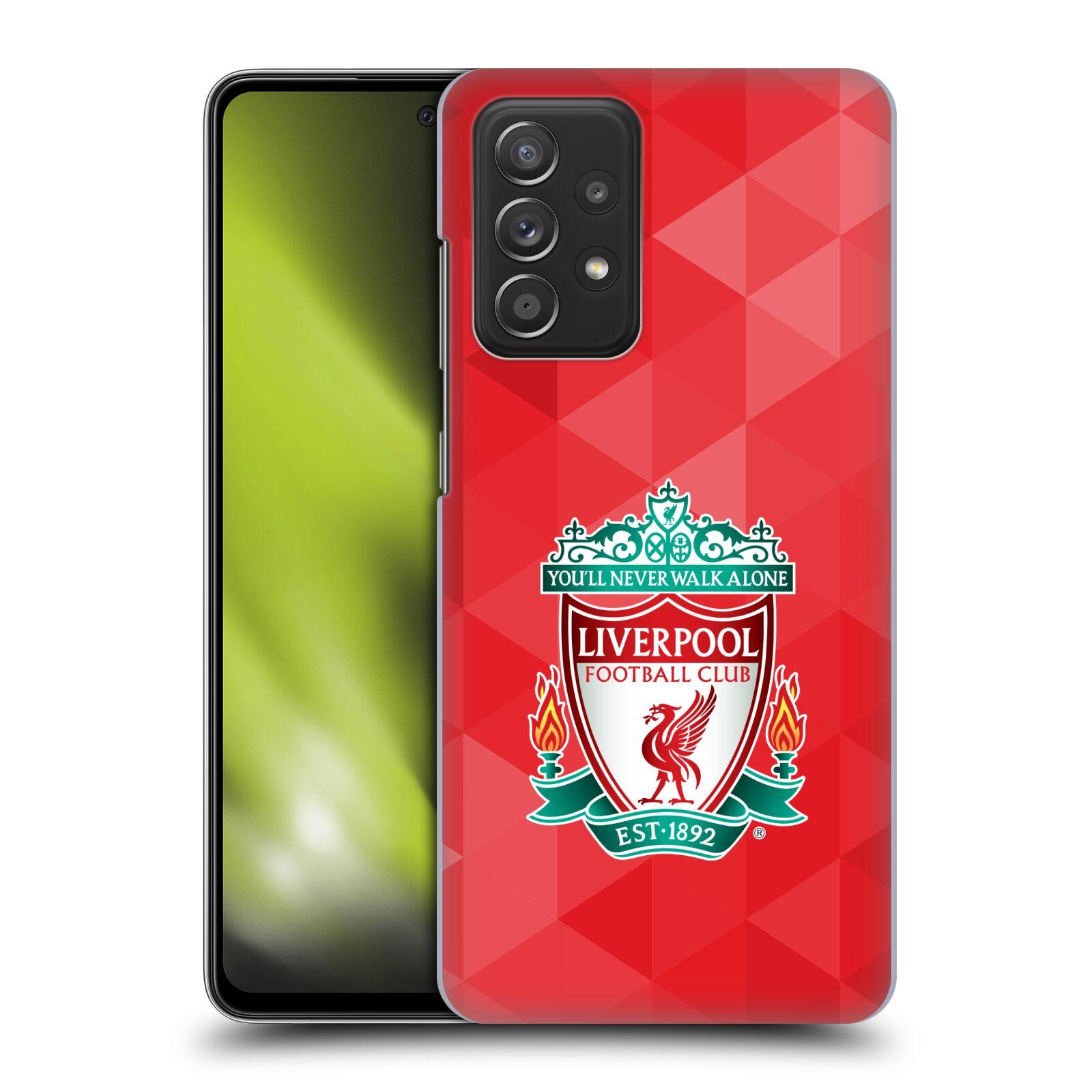 Plastové pouzdro na mobil Samsung Galaxy A52 / A52 5G / A52s 5G - Head Case - ZNAK LIVERPOOL FC OFFICIAL GEOMETRIC RED