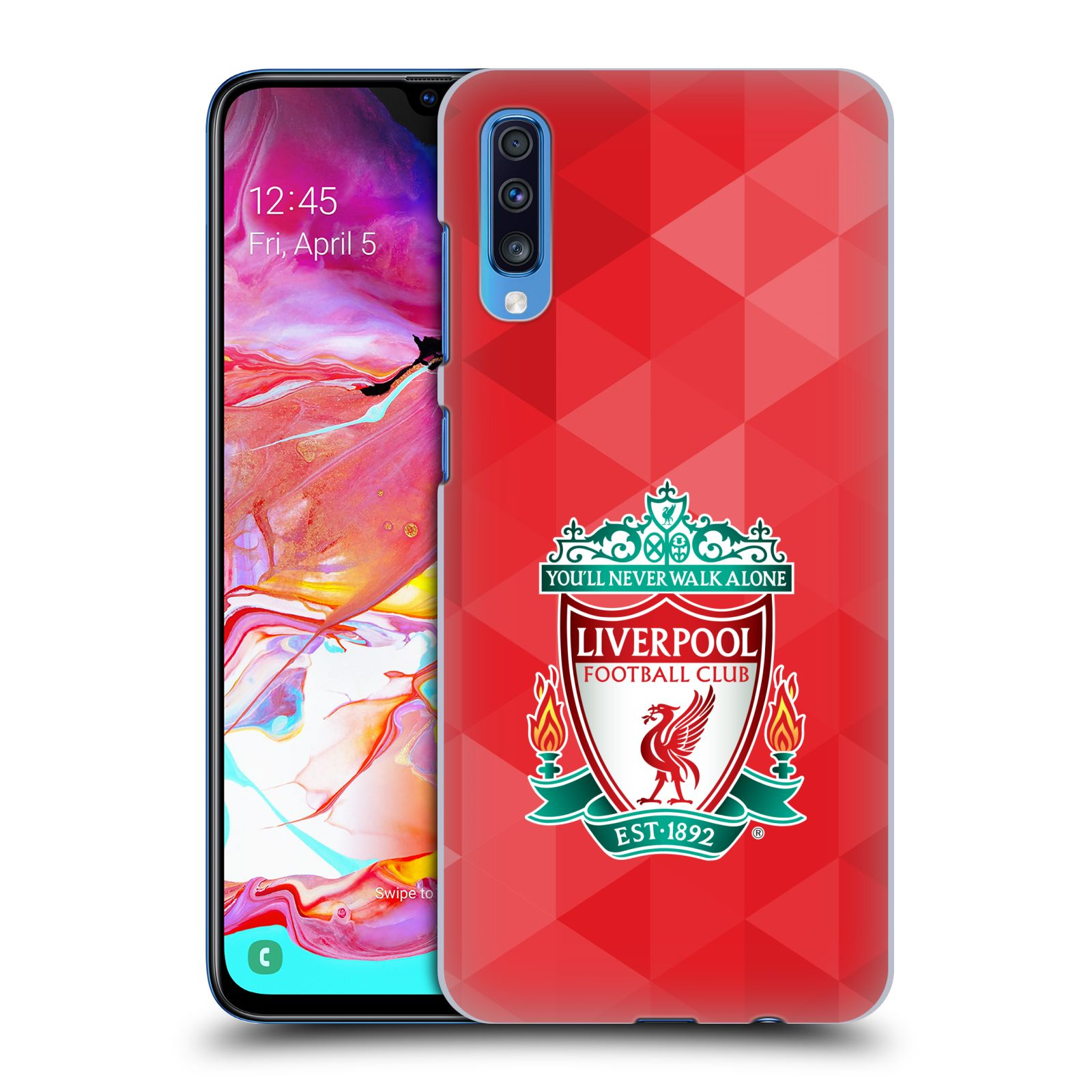 Plastové pouzdro na mobil Samsung Galaxy A70 - Head Case - ZNAK LIVERPOOL FC OFFICIAL GEOMETRIC RED