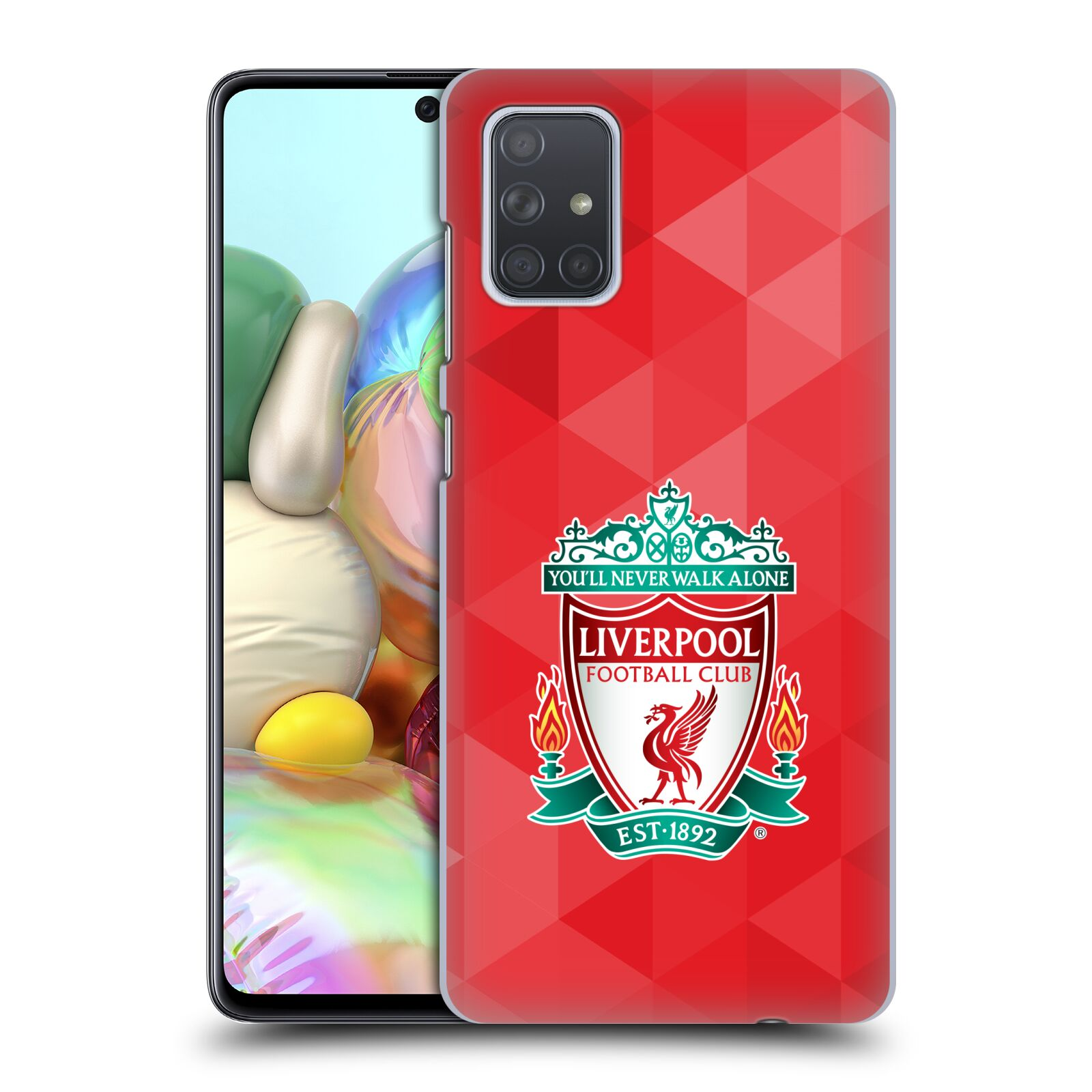 Plastové pouzdro na mobil Samsung Galaxy A71 - Head Case - ZNAK LIVERPOOL FC OFFICIAL GEOMETRIC RED