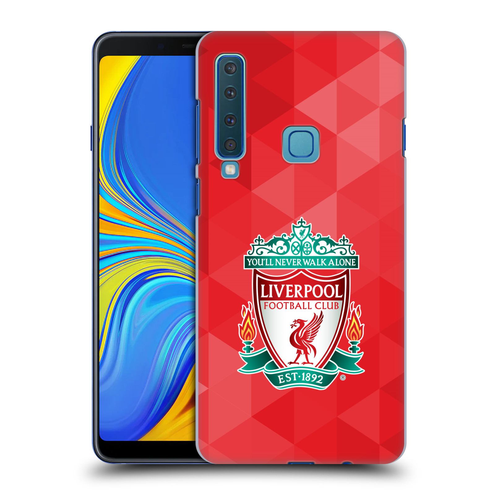 Plastové pouzdro na mobil Samsung Galaxy A9 (2018) - Head Case - ZNAK LIVERPOOL FC OFFICIAL GEOMETRIC RED
