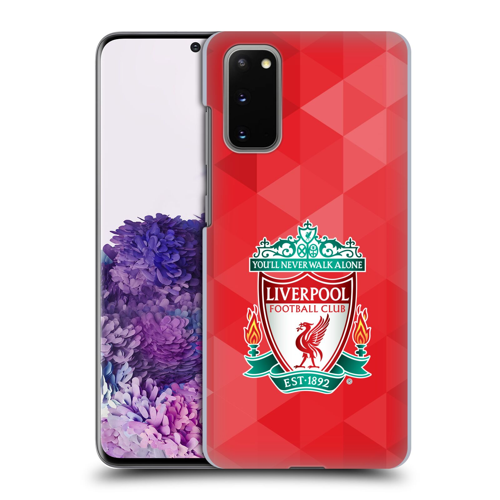 Plastové pouzdro na mobil Samsung Galaxy S20 - Head Case - ZNAK LIVERPOOL FC OFFICIAL GEOMETRIC RED