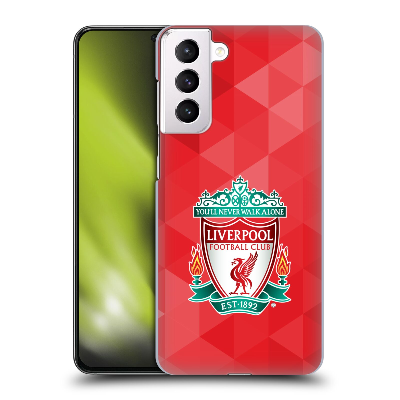 Plastové pouzdro na mobil Samsung Galaxy S21 Plus 5G - Head Case - ZNAK LIVERPOOL FC OFFICIAL GEOMETRIC RED
