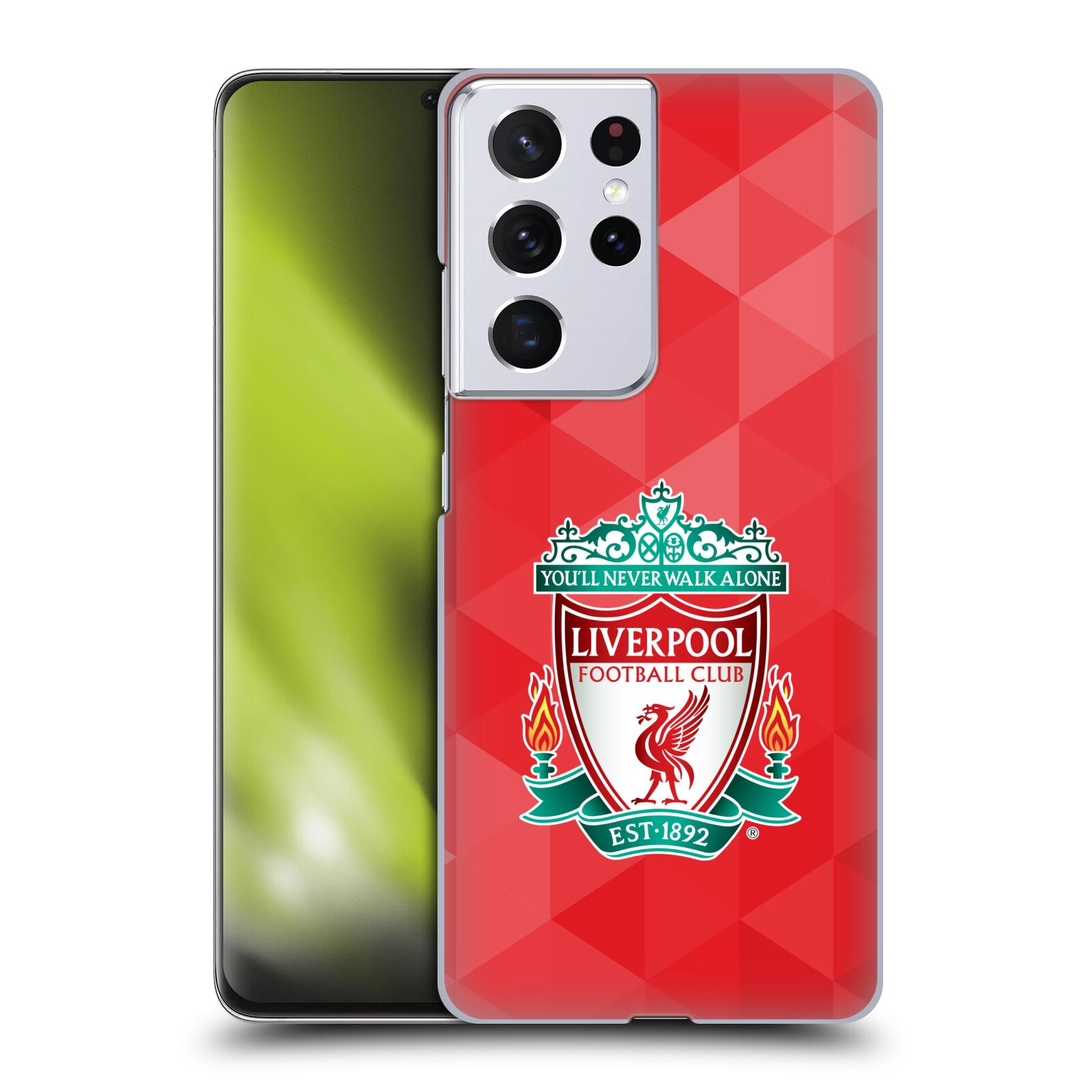 Plastové pouzdro na mobil Samsung Galaxy S21 Ultra 5G - Head Case - ZNAK LIVERPOOL FC OFFICIAL GEOMETRIC RED