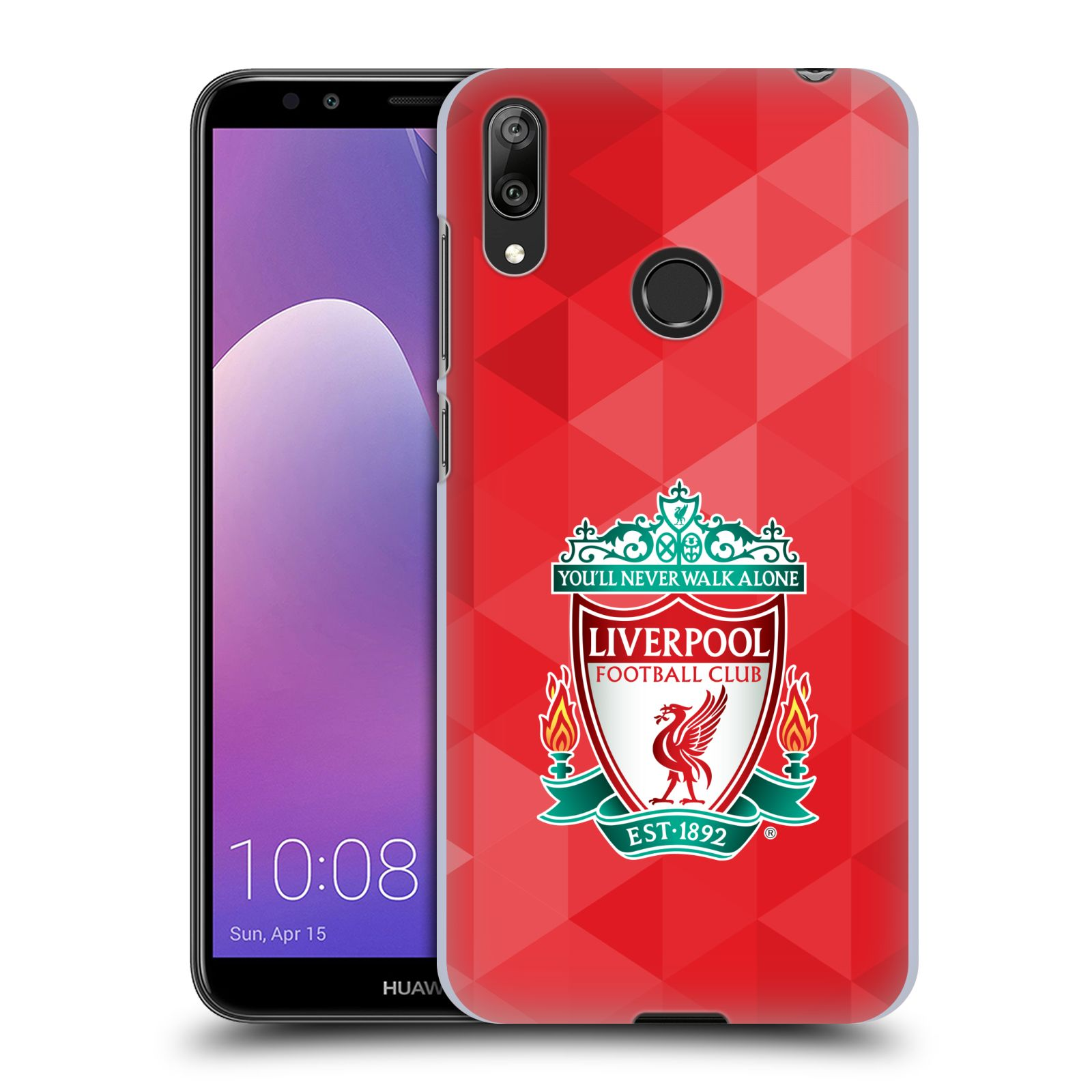 Plastové pouzdro na mobil Huawei Y7 (2019) - Head Case - ZNAK LIVERPOOL FC OFFICIAL GEOMETRIC RED