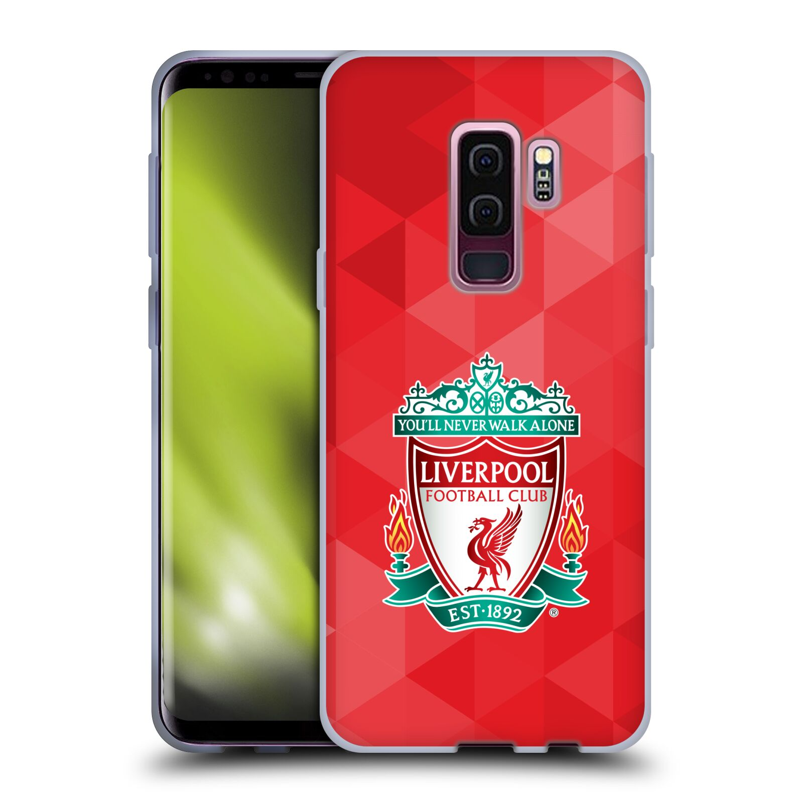 Silikonové pouzdro na mobil Samsung Galaxy S9 Plus - Head Case - ZNAK LIVERPOOL FC OFFICIAL GEOMETRIC RED