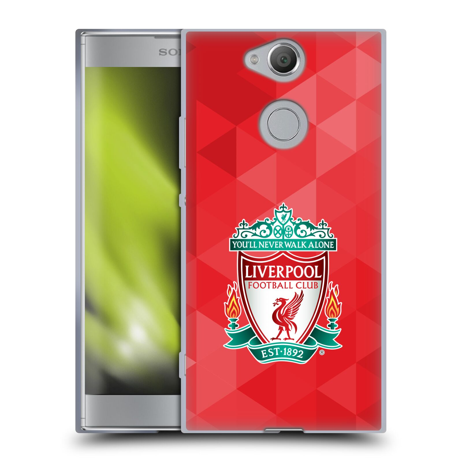 Silikonové pouzdro na mobil Sony Xperia XA2 - Head Case - ZNAK LIVERPOOL FC OFFICIAL GEOMETRIC RED
