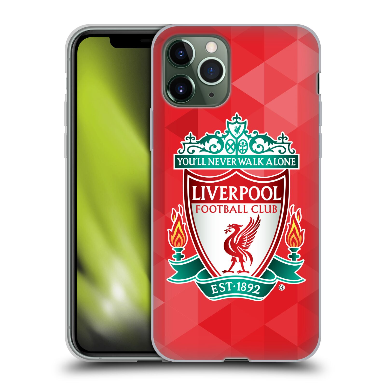 kryt na iphone x silikonovy | Silikonové pouzdro na mobil Apple iPhone 11 Pro - Head Case - ZNAK LIVERPOOL FC OFFICIAL GEOMETRIC RED