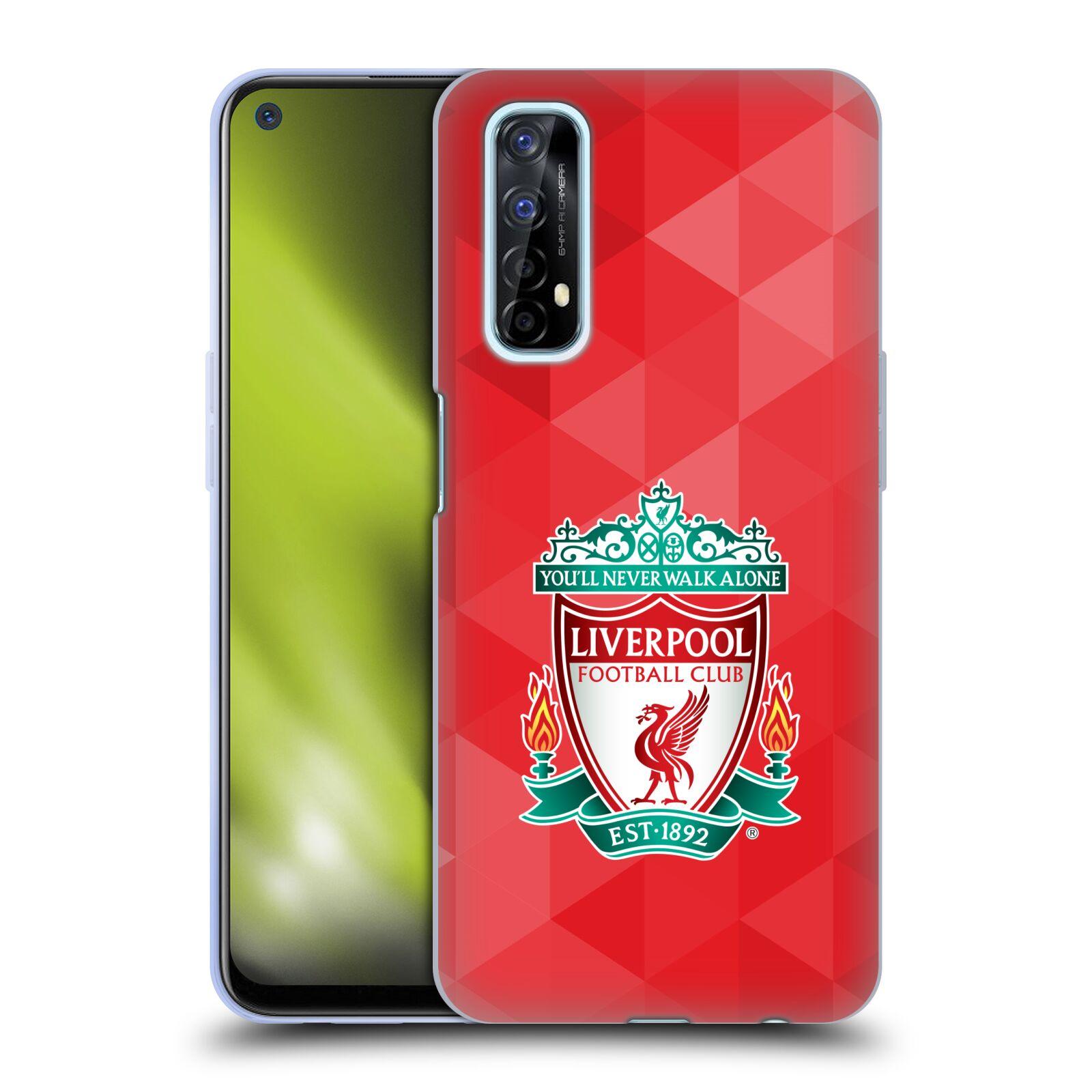 Silikonové pouzdro na mobil Realme 7 - Head Case - ZNAK LIVERPOOL FC OFFICIAL GEOMETRIC RED