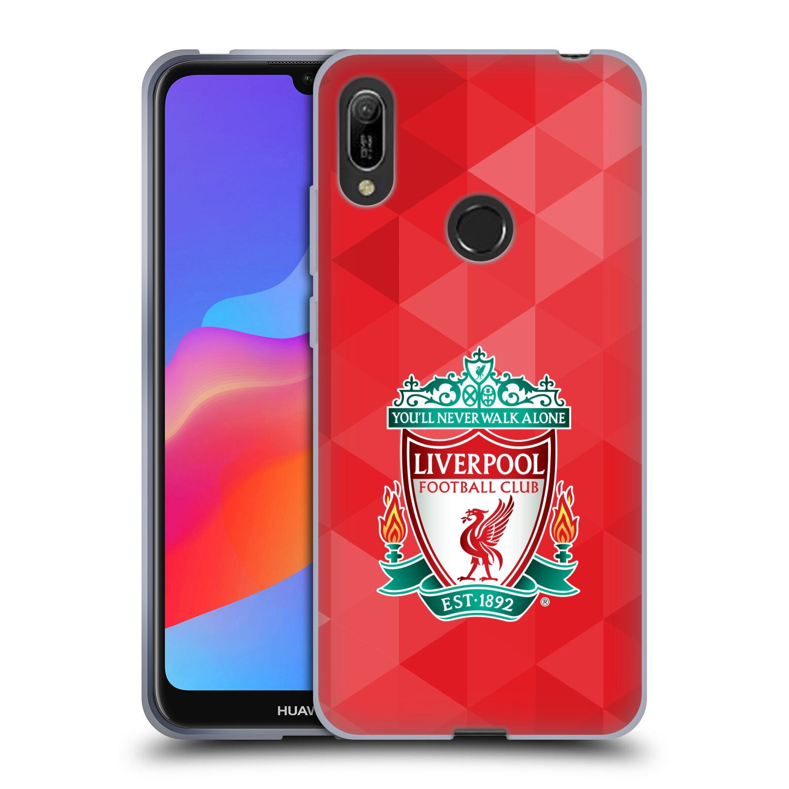 Silikonové pouzdro na mobil Huawei Y6 (2019) - Head Case - ZNAK LIVERPOOL FC OFFICIAL GEOMETRIC RED
