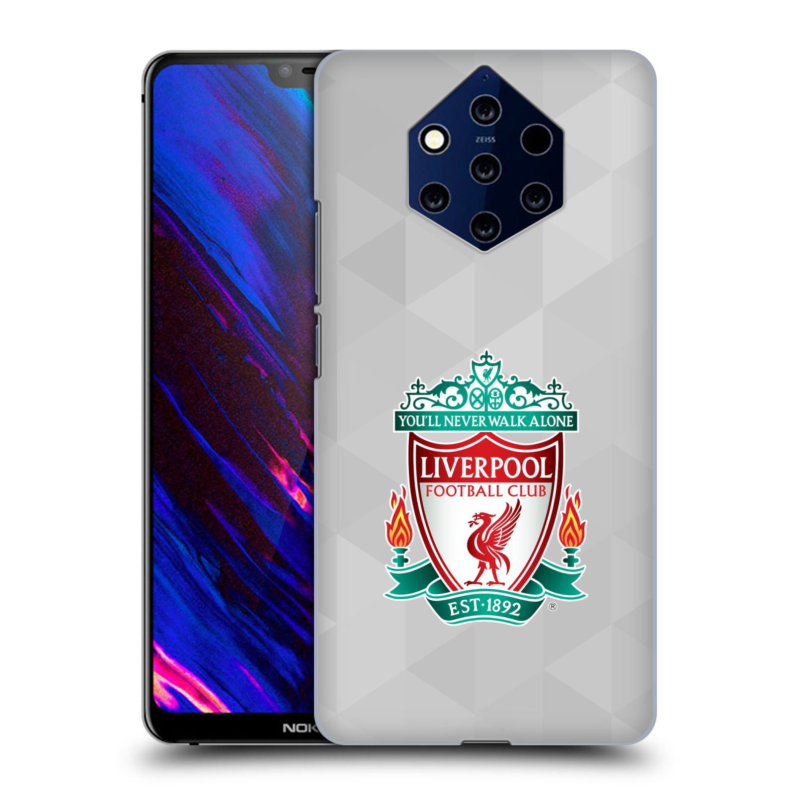 Plastové pouzdro na mobil Nokia 9 PureView - Head Case - ZNAK LIVERPOOL FC OFFICIAL GEOMETRIC WHITE