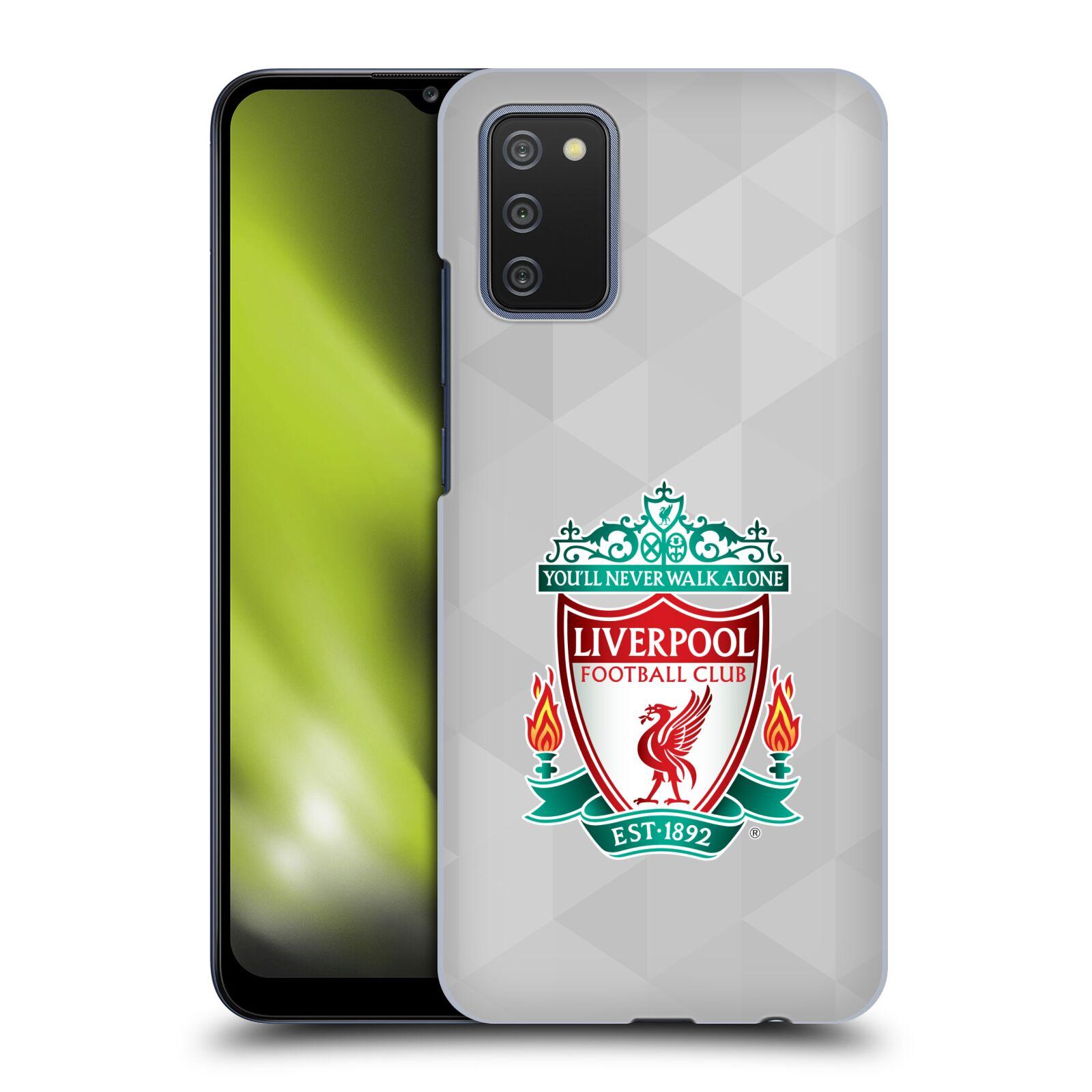 Plastové pouzdro na mobil Samsung Galaxy A02s - Head Case - ZNAK LIVERPOOL FC OFFICIAL GEOMETRIC WHITE